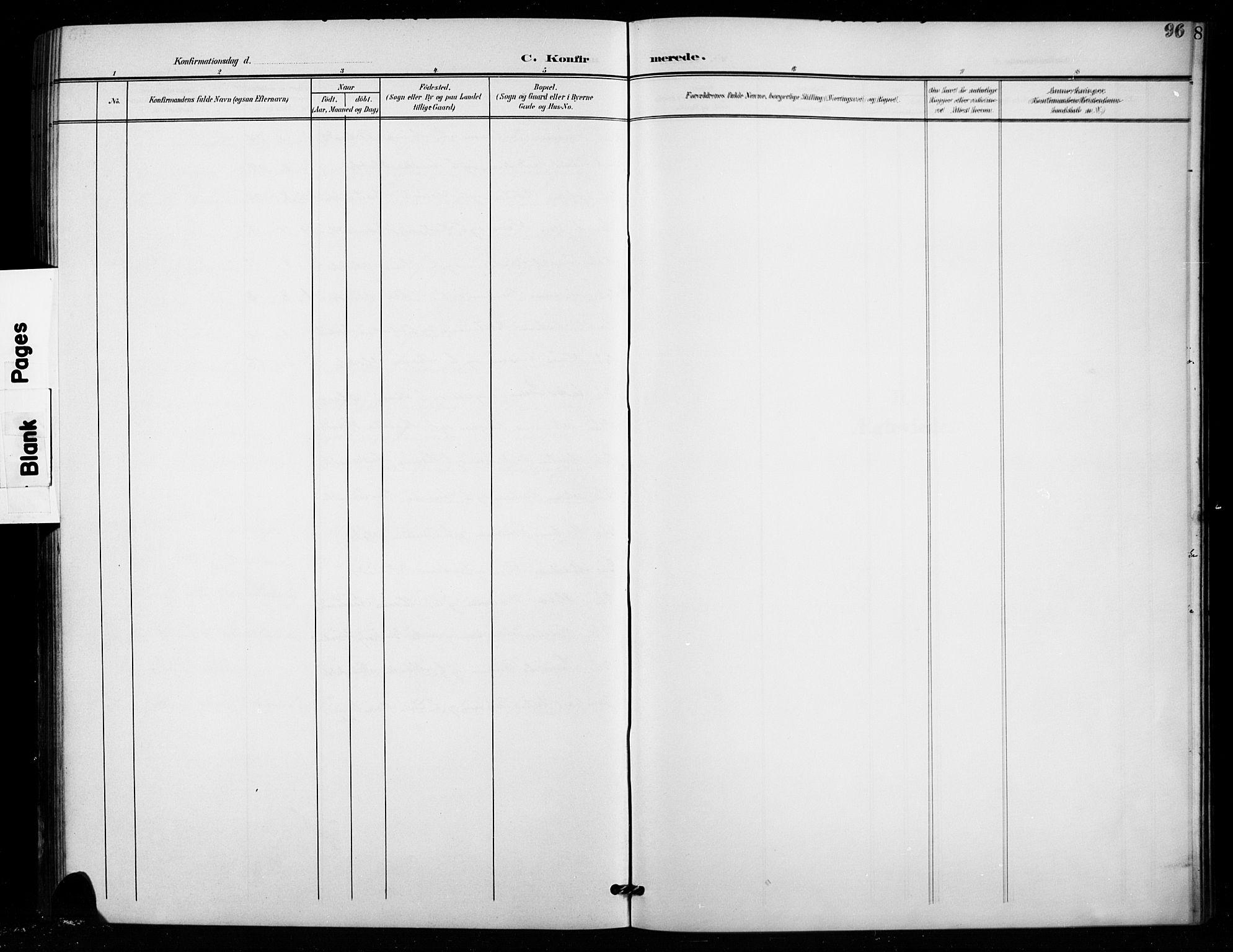 SAH, Vestre Toten prestekontor, Klokkerbok nr. 16, 1901-1915, s. 96