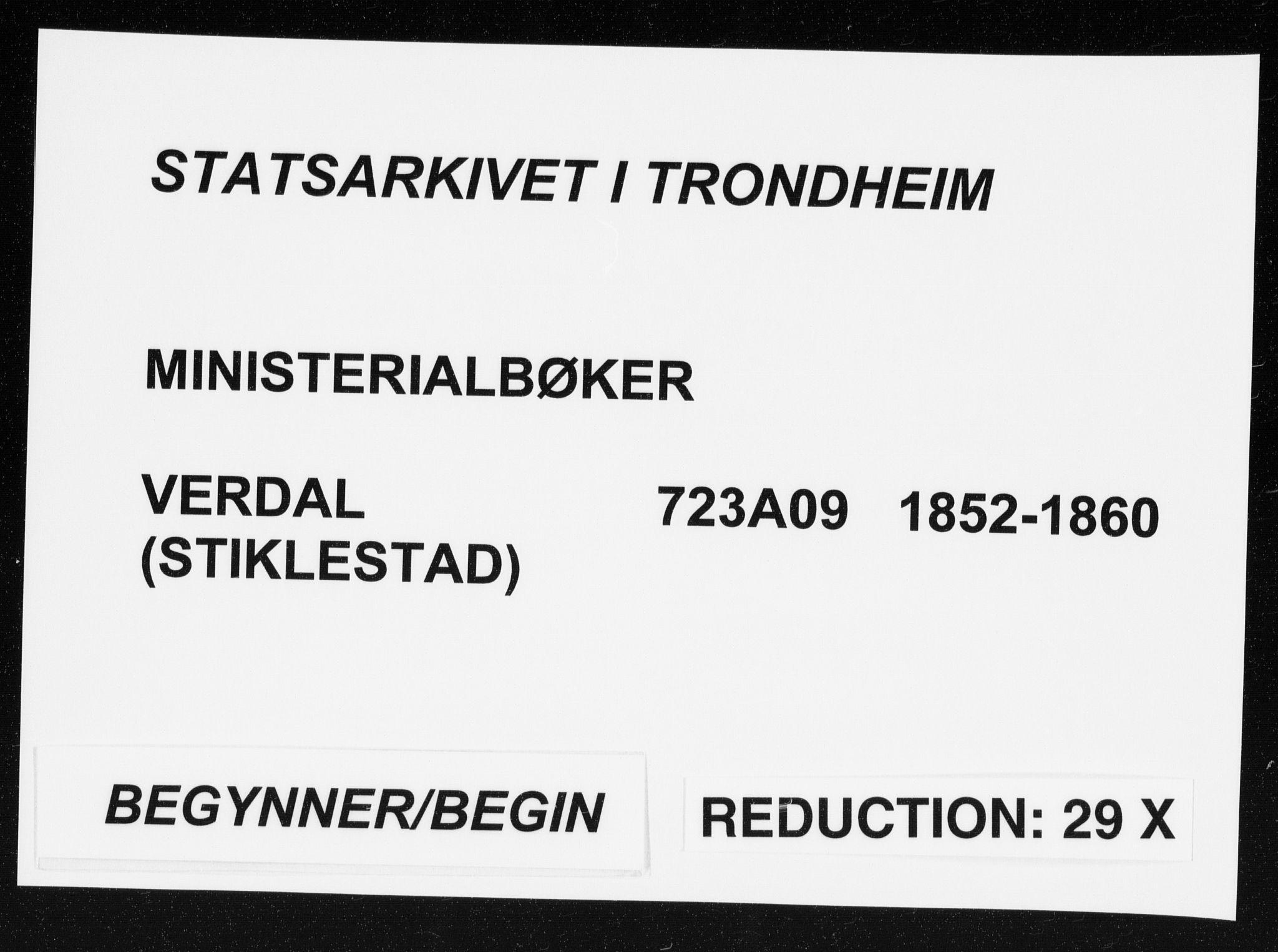 SAT, Ministerialprotokoller, klokkerbøker og fødselsregistre - Nord-Trøndelag, 723/L0240: Ministerialbok nr. 723A09, 1852-1860