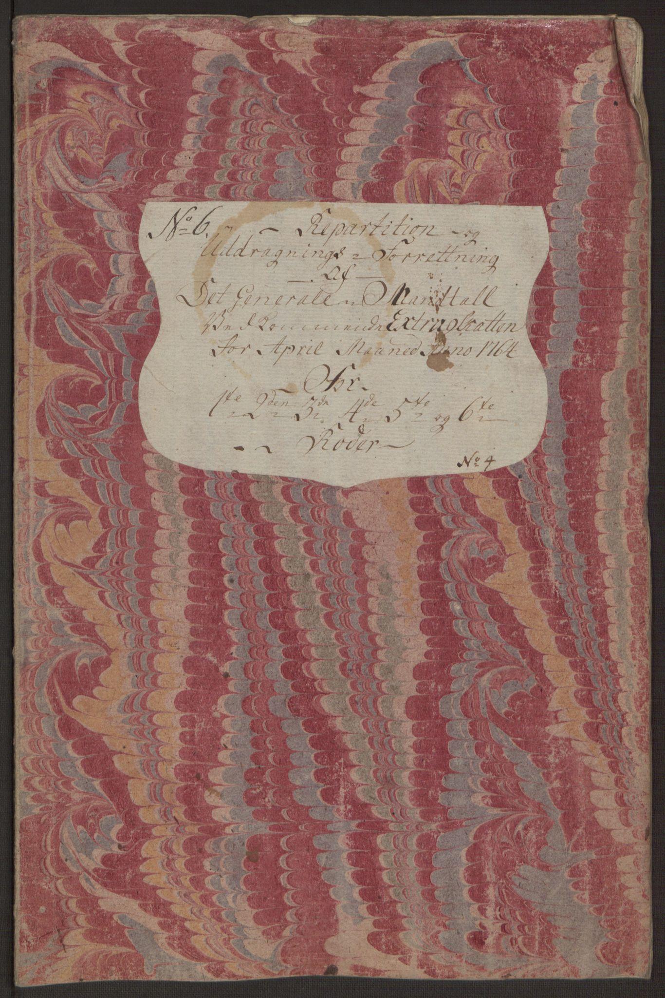 RA, Rentekammeret inntil 1814, Reviderte regnskaper, Byregnskaper, R/Rp/L0367: [P21] Kontribusjonsregnskap, 1764, s. 134