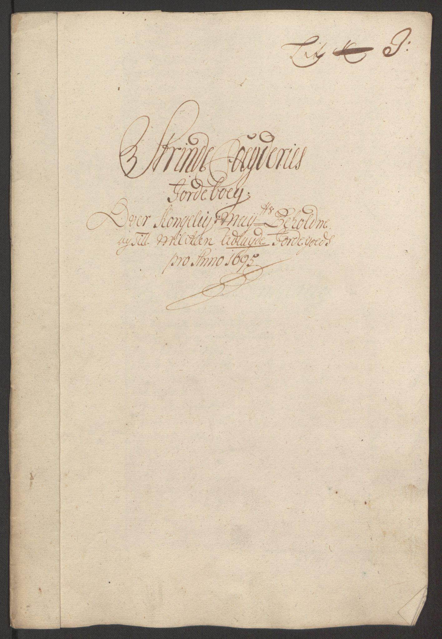 RA, Rentekammeret inntil 1814, Reviderte regnskaper, Fogderegnskap, R61/L4105: Fogderegnskap Strinda og Selbu, 1695, s. 71