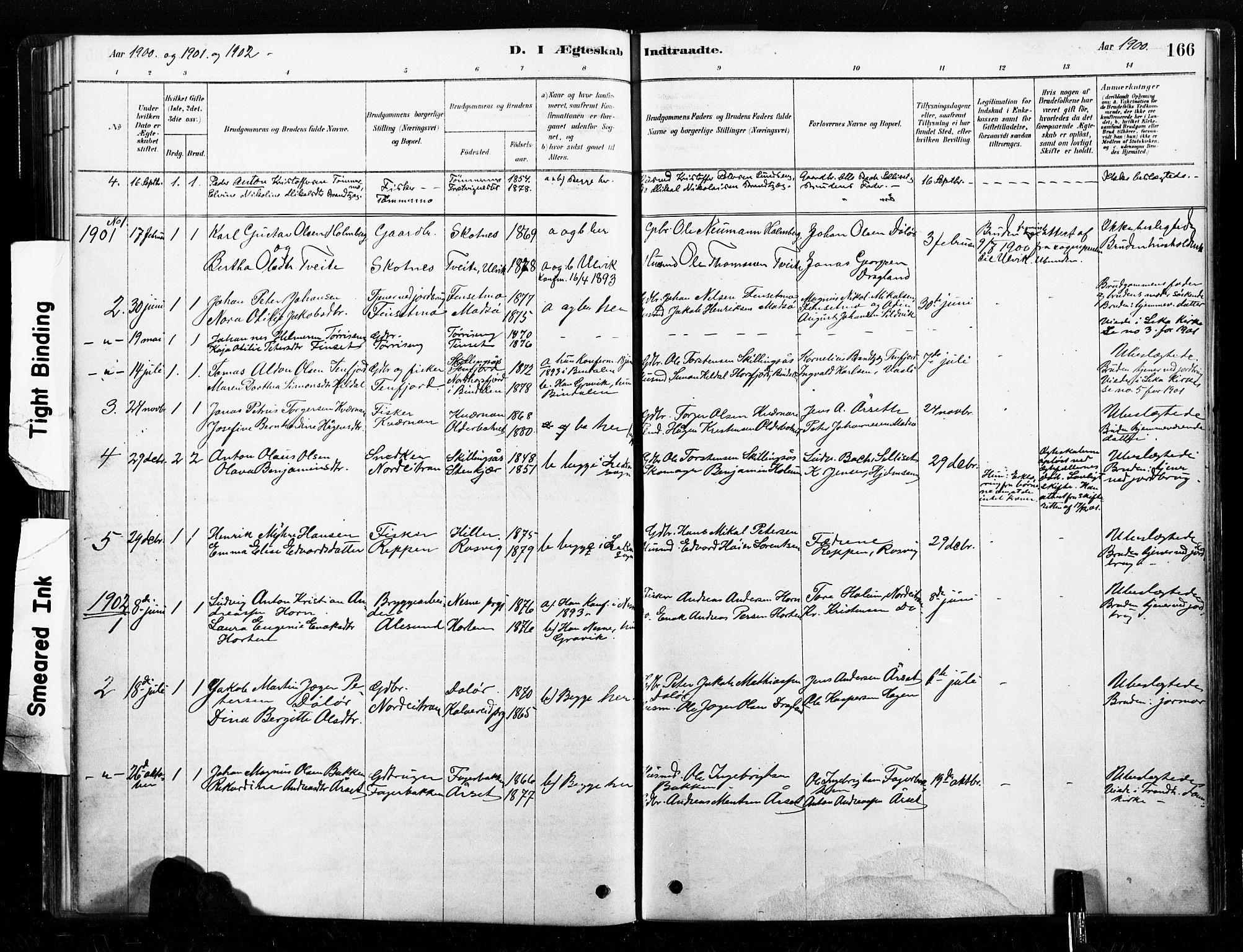 SAT, Ministerialprotokoller, klokkerbøker og fødselsregistre - Nord-Trøndelag, 789/L0705: Ministerialbok nr. 789A01, 1878-1910, s. 166