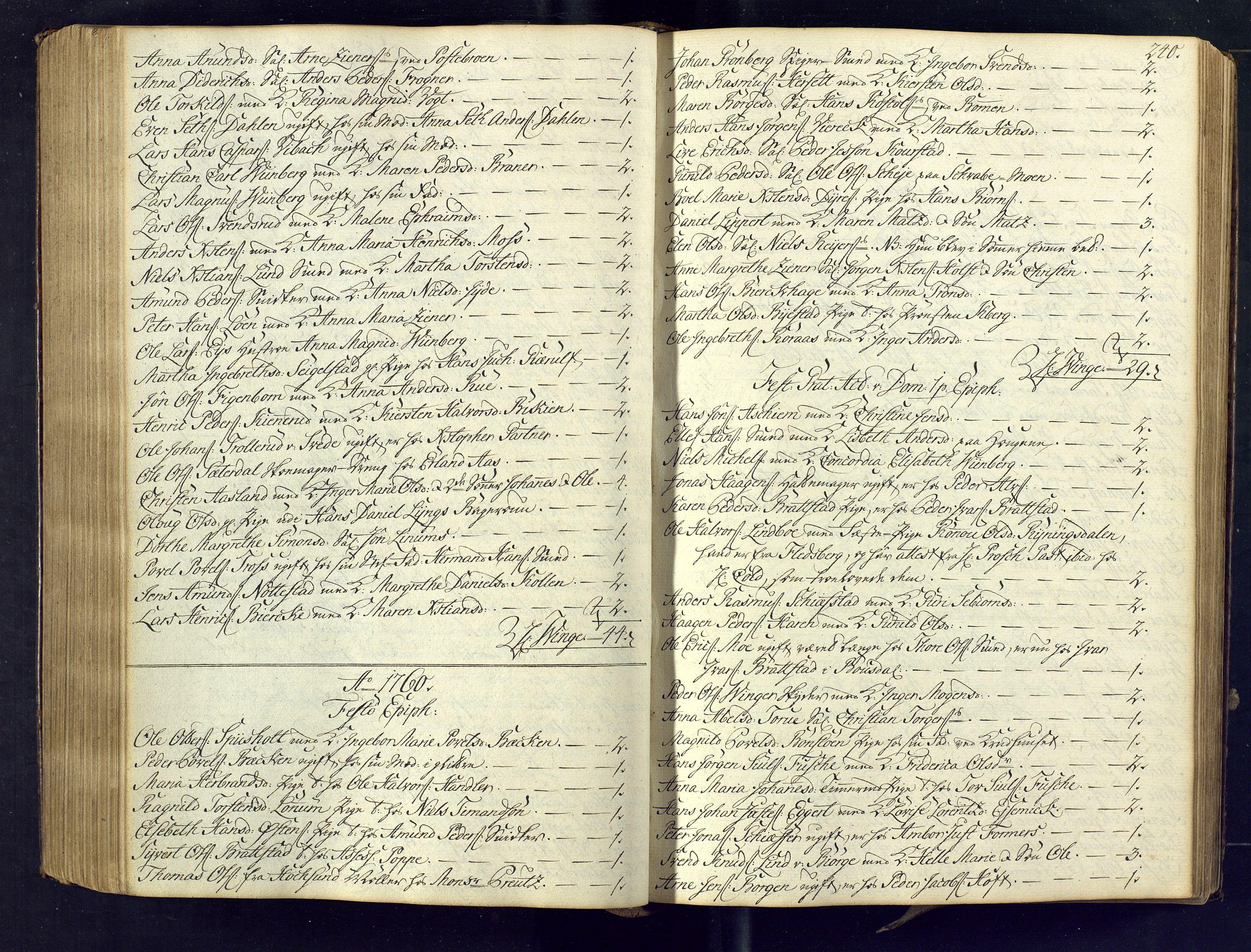 SAKO, Kongsberg kirkebøker, M/Ma/L0005: Kommunikantprotokoll nr. 5, 1755-1761, s. 240