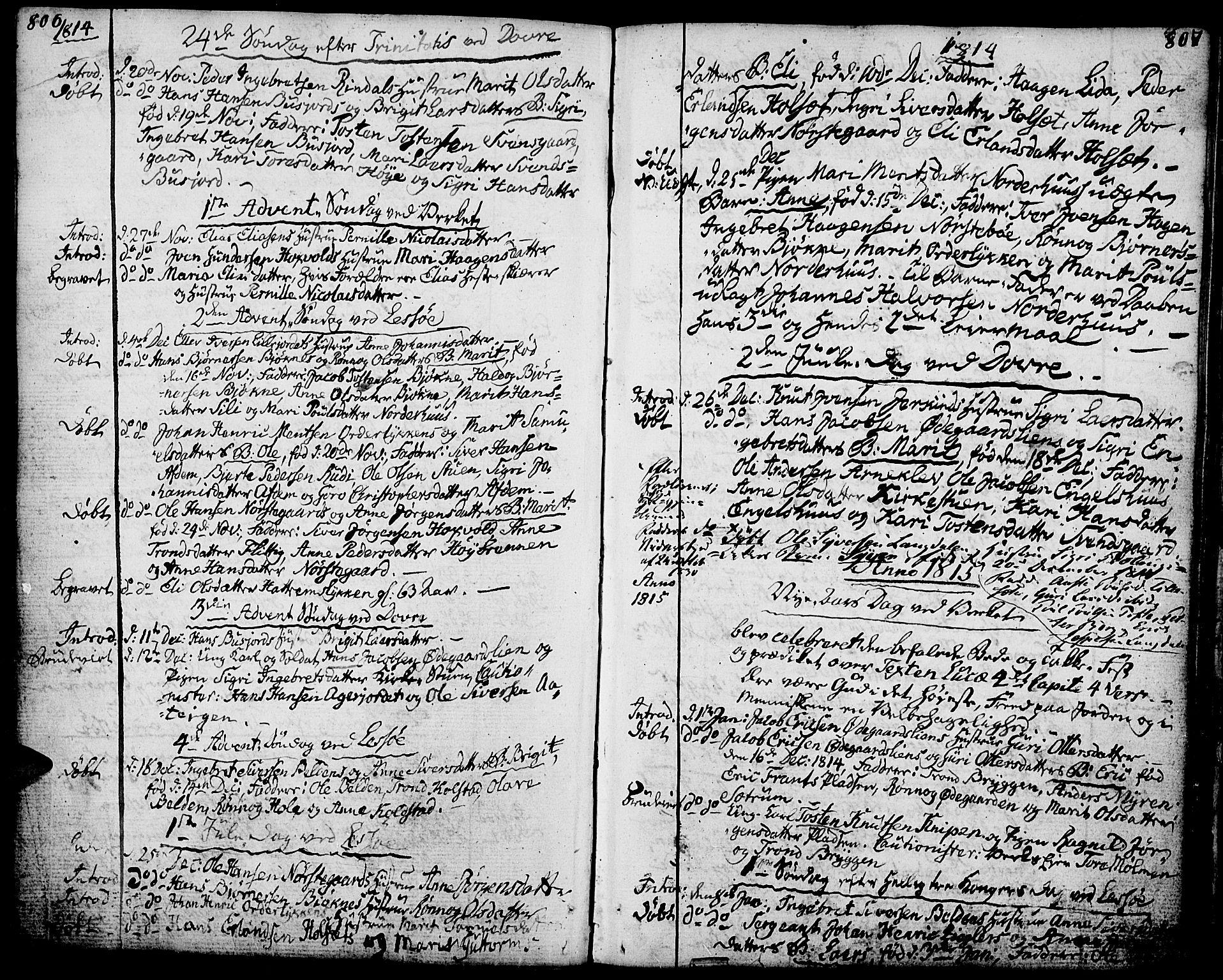 SAH, Lesja prestekontor, Ministerialbok nr. 3, 1777-1819, s. 806-807