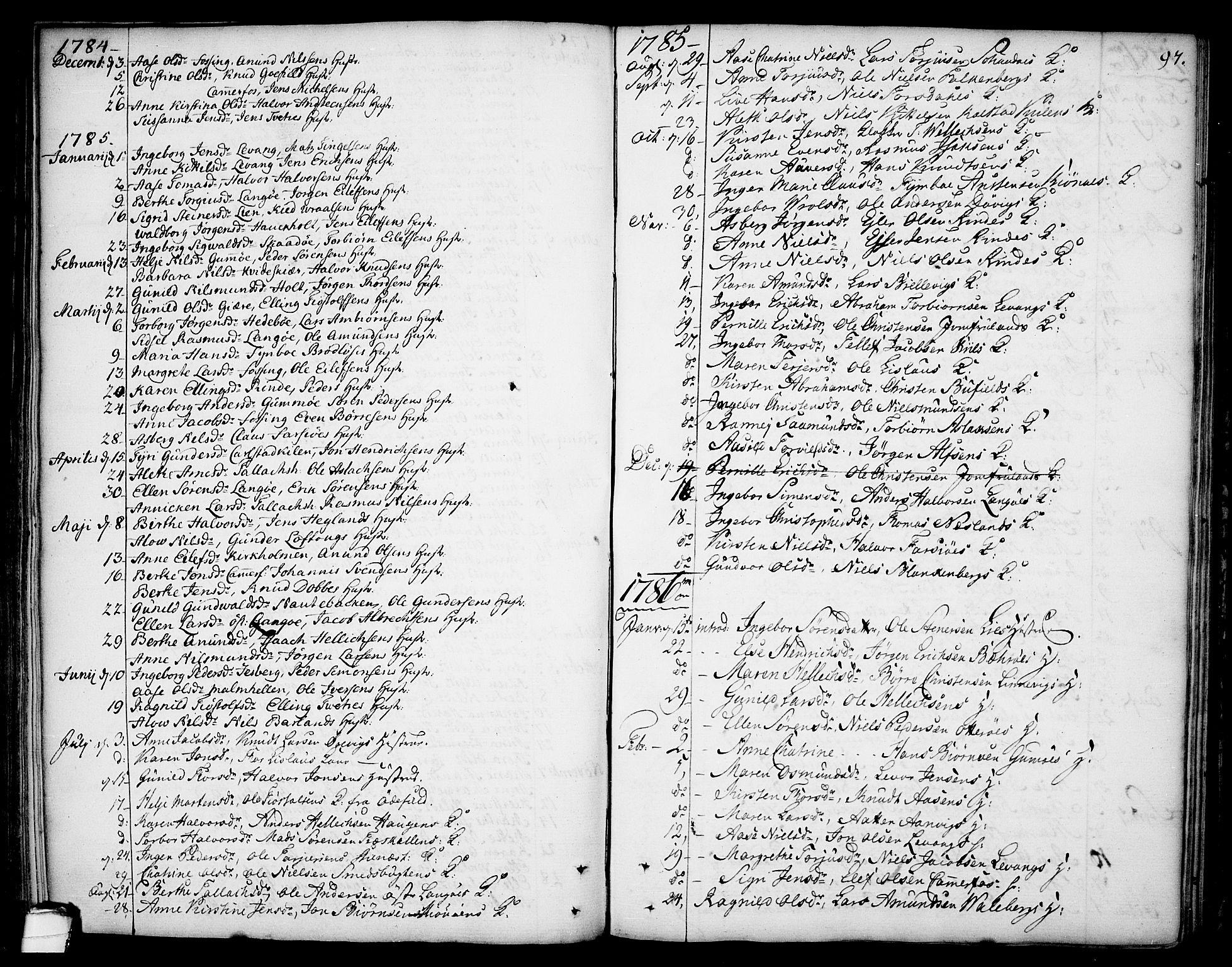 SAKO, Sannidal kirkebøker, F/Fa/L0002: Ministerialbok nr. 2, 1767-1802, s. 97