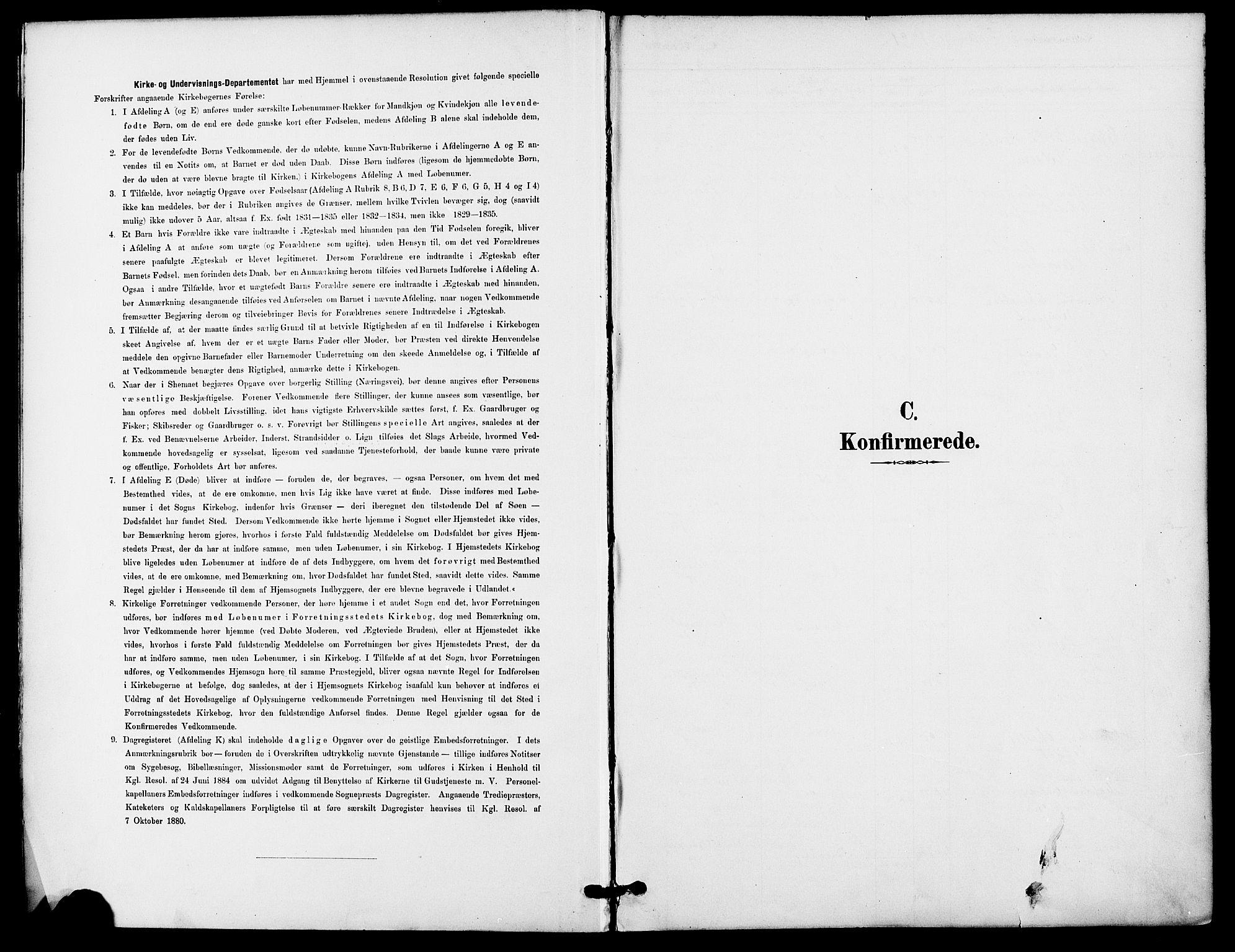 SAO, Gamle Aker prestekontor Kirkebøker, F/L0009: Ministerialbok nr. 9, 1890-1898