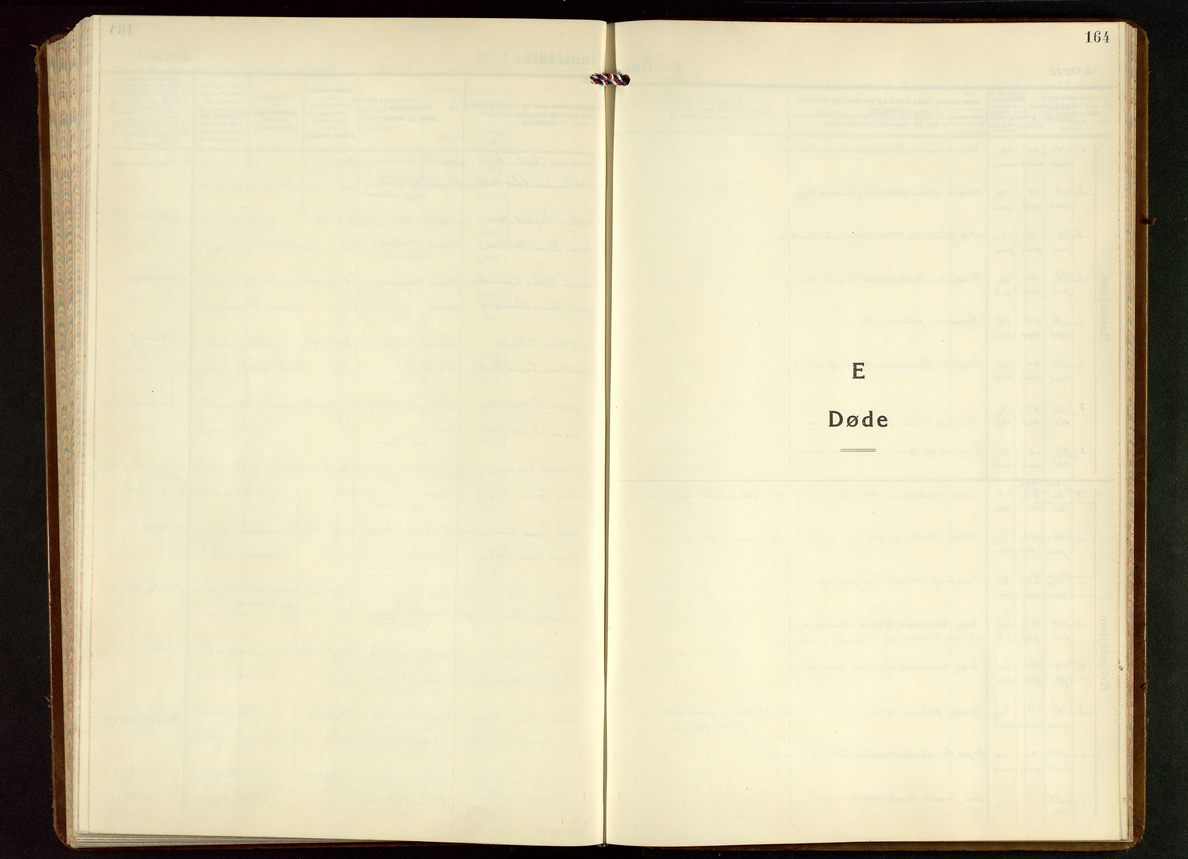 SAST, Strand sokneprestkontor, H/Ha/Hab/L0006: Klokkerbok nr. B 6, 1933-1950, s. 164