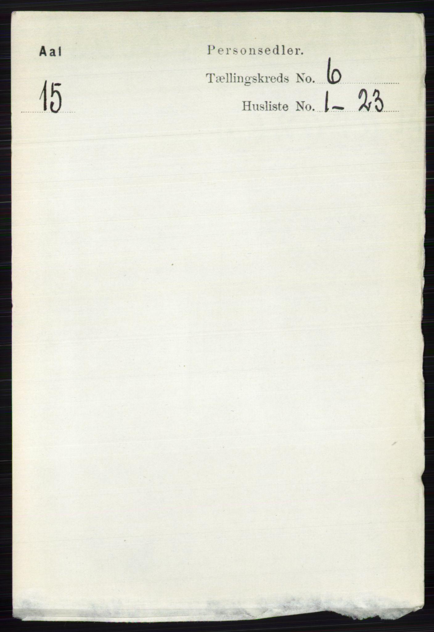 RA, Folketelling 1891 for 0619 Ål herred, 1891, s. 1520