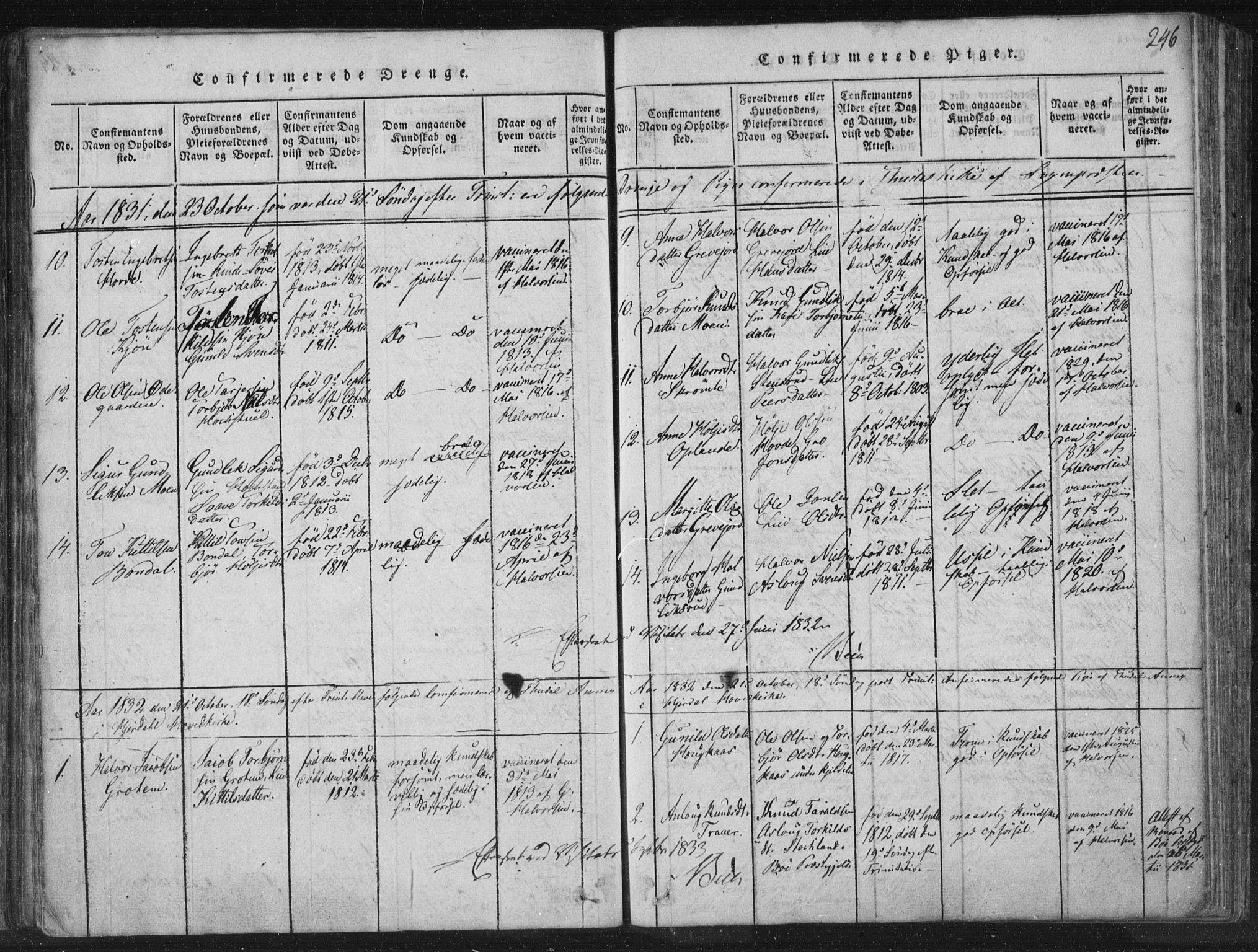 SAKO, Hjartdal kirkebøker, F/Fc/L0001: Ministerialbok nr. III 1, 1815-1843, s. 246
