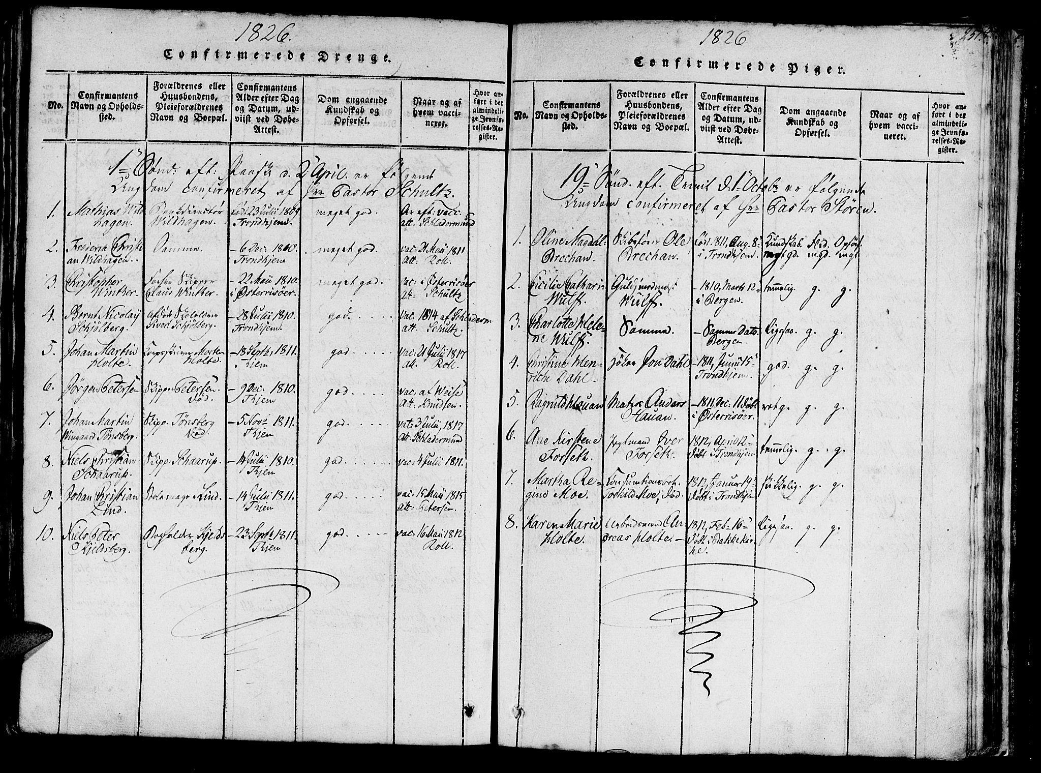SAT, Ministerialprotokoller, klokkerbøker og fødselsregistre - Sør-Trøndelag, 602/L0135: Klokkerbok nr. 602C03, 1815-1832, s. 251