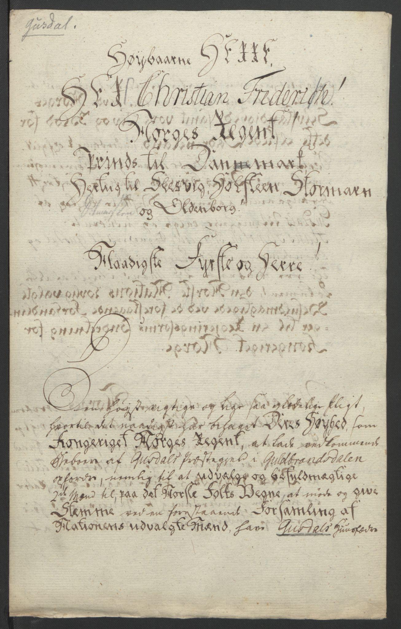 RA, Statsrådssekretariatet, D/Db/L0007: Fullmakter for Eidsvollsrepresentantene i 1814. , 1814, s. 259