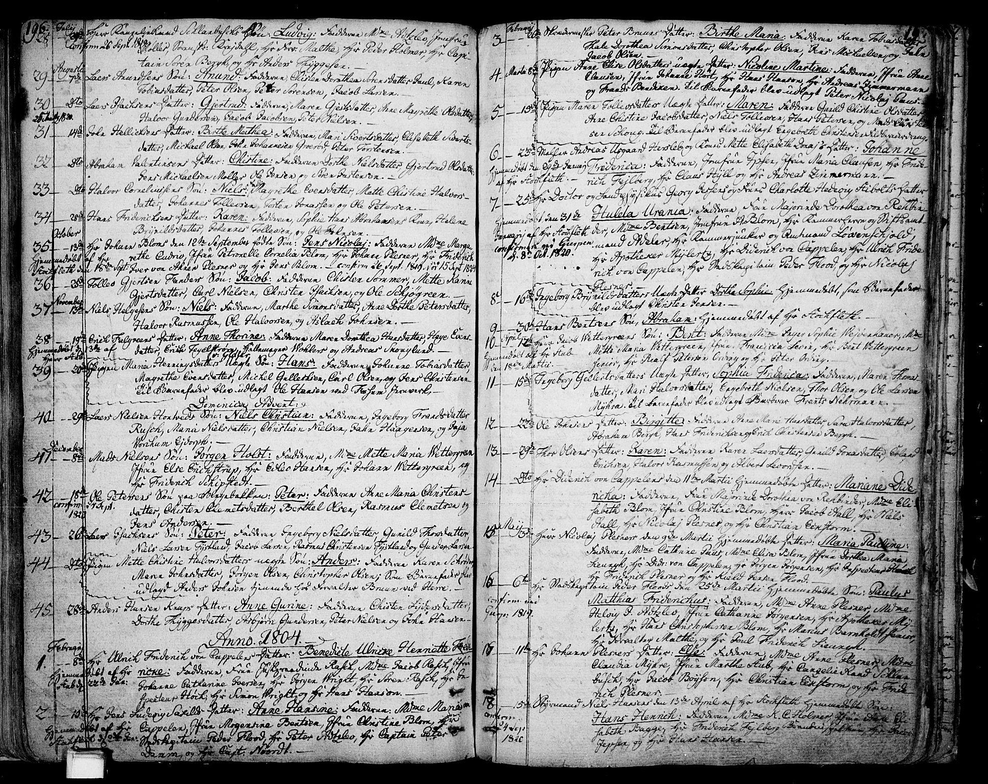 SAKO, Skien kirkebøker, F/Fa/L0004: Ministerialbok nr. 4, 1792-1814, s. 196-197