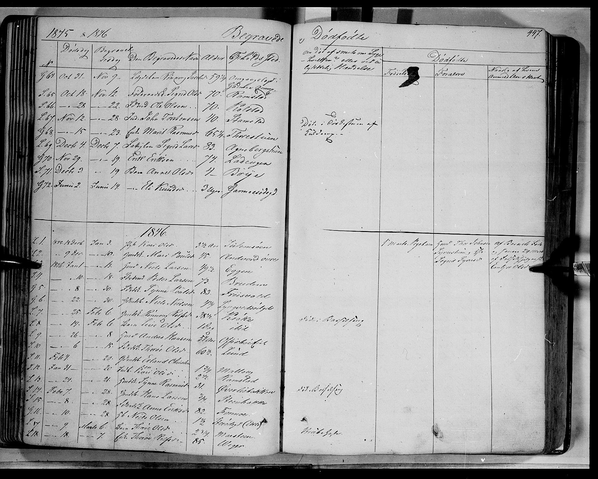 SAH, Lom prestekontor, K/L0006: Ministerialbok nr. 6B, 1837-1863, s. 447