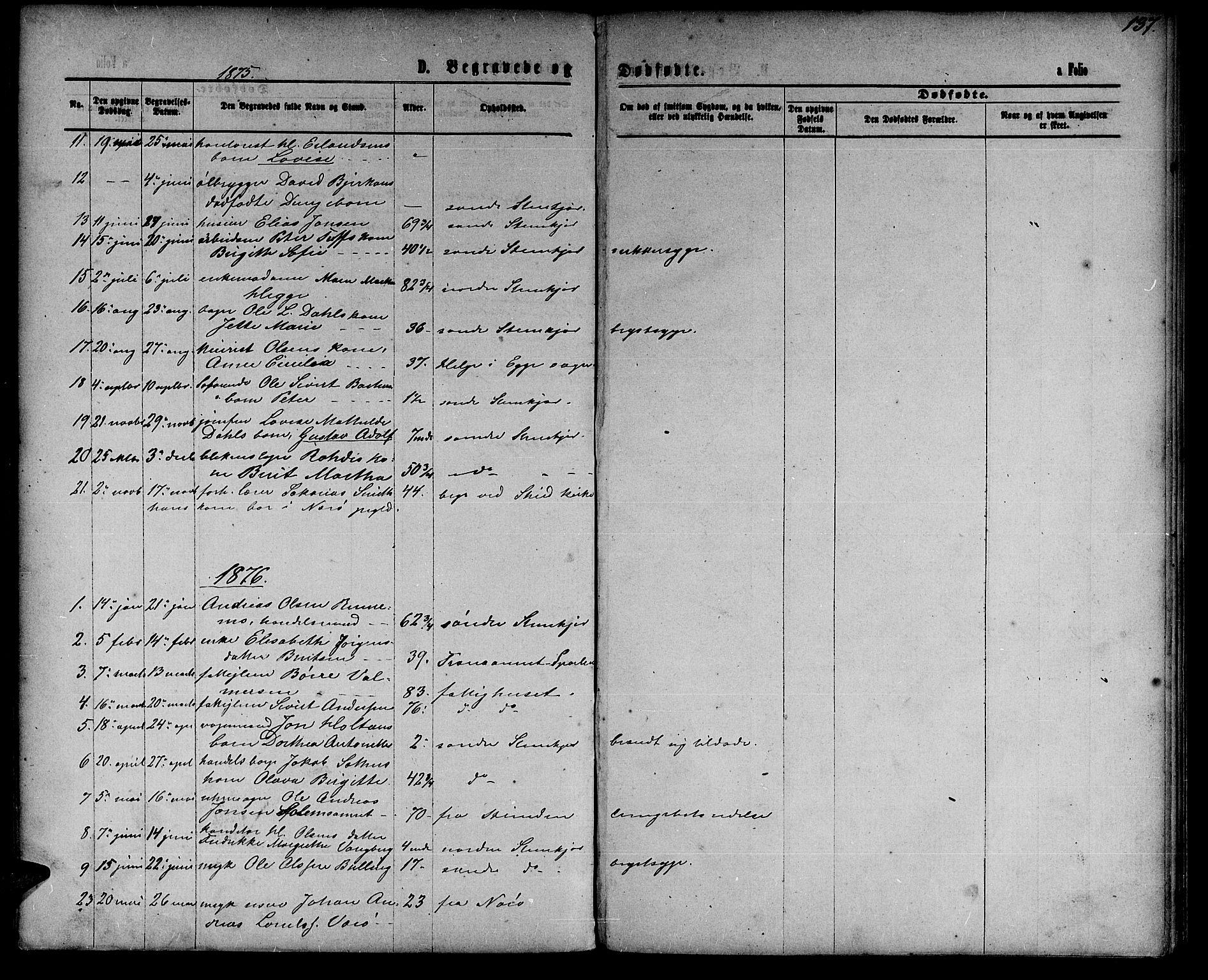 SAT, Ministerialprotokoller, klokkerbøker og fødselsregistre - Nord-Trøndelag, 739/L0373: Klokkerbok nr. 739C01, 1865-1882, s. 137