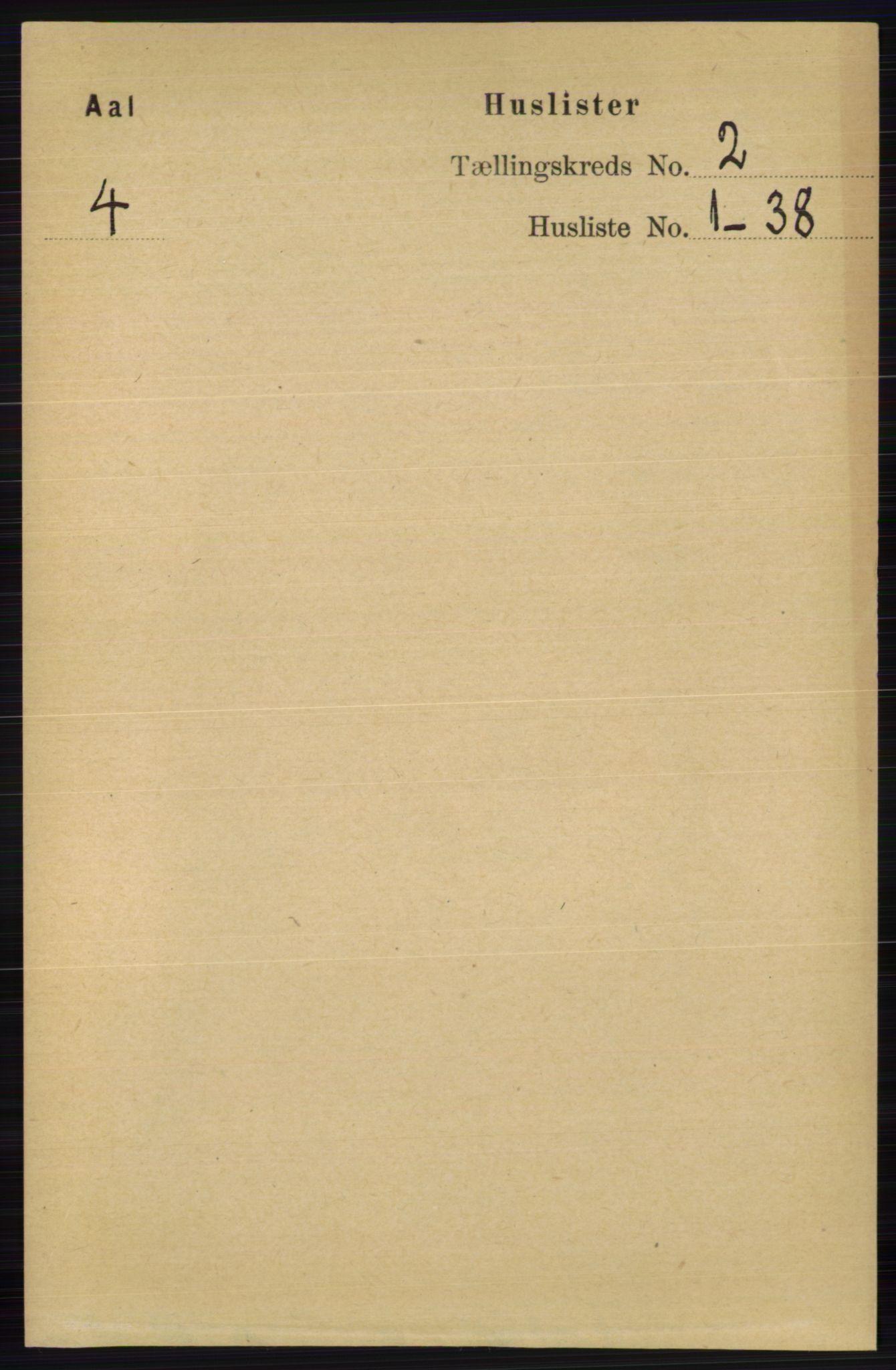 RA, Folketelling 1891 for 0619 Ål herred, 1891, s. 331