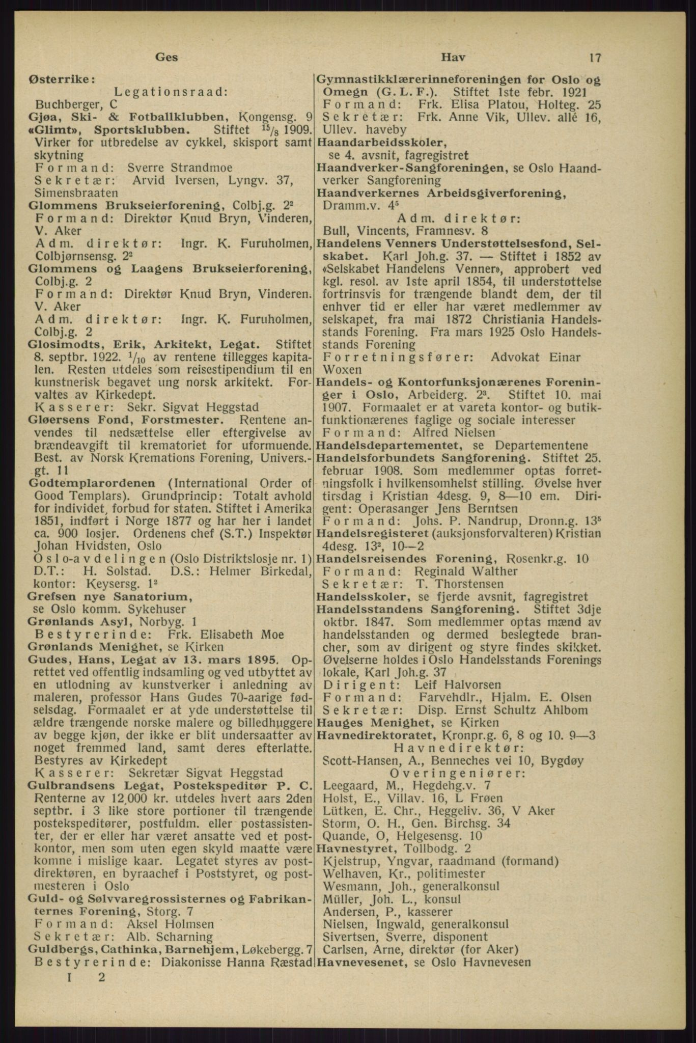 RA, Oslo adressebok (publikasjon)*, 1929, s. 17