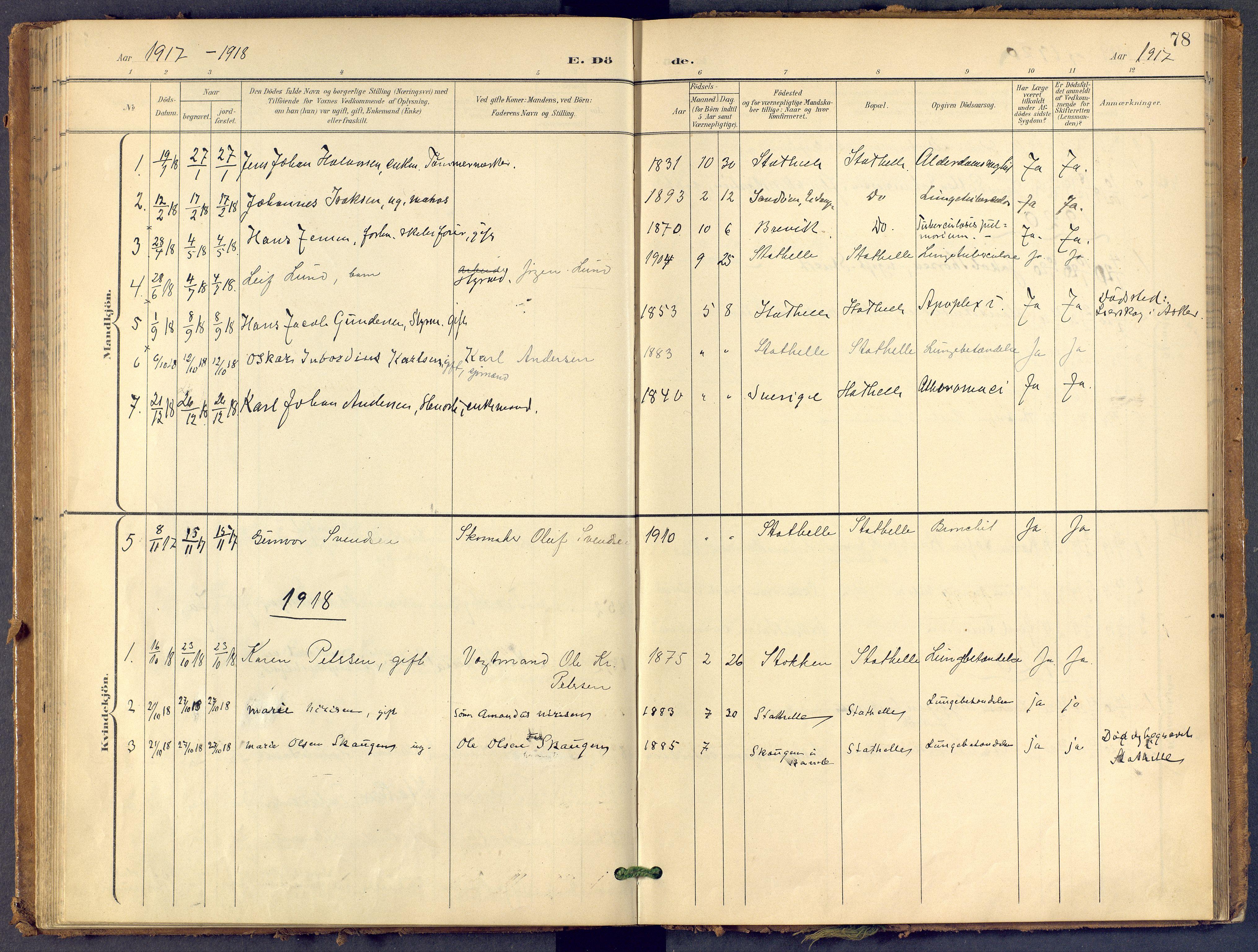 SAKO, Bamble kirkebøker, F/Fb/L0002: Ministerialbok nr. II 2, 1900-1921, s. 78