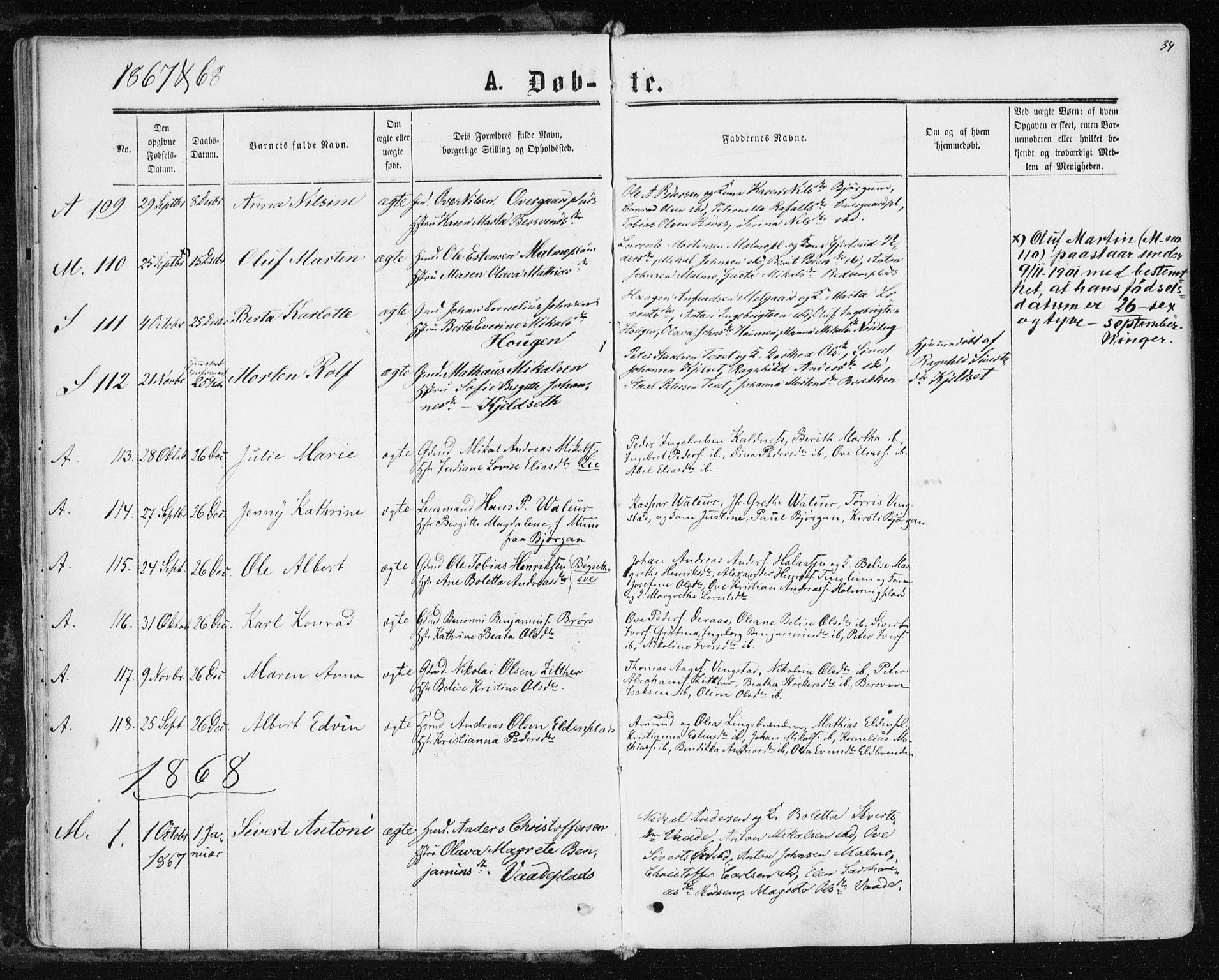SAT, Ministerialprotokoller, klokkerbøker og fødselsregistre - Nord-Trøndelag, 741/L0394: Ministerialbok nr. 741A08, 1864-1877, s. 34