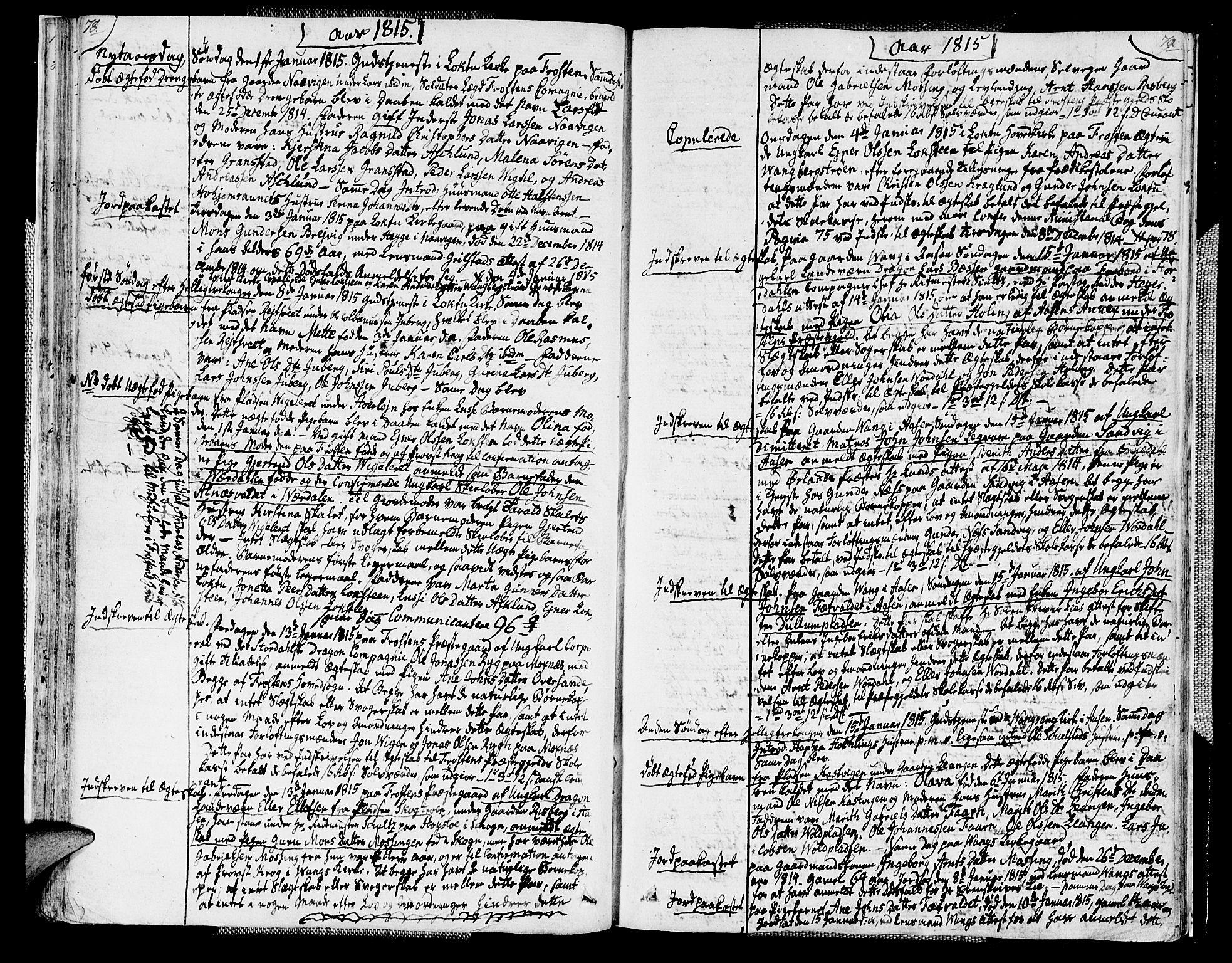 SAT, Ministerialprotokoller, klokkerbøker og fødselsregistre - Nord-Trøndelag, 713/L0111: Ministerialbok nr. 713A03, 1812-1816, s. 78-79