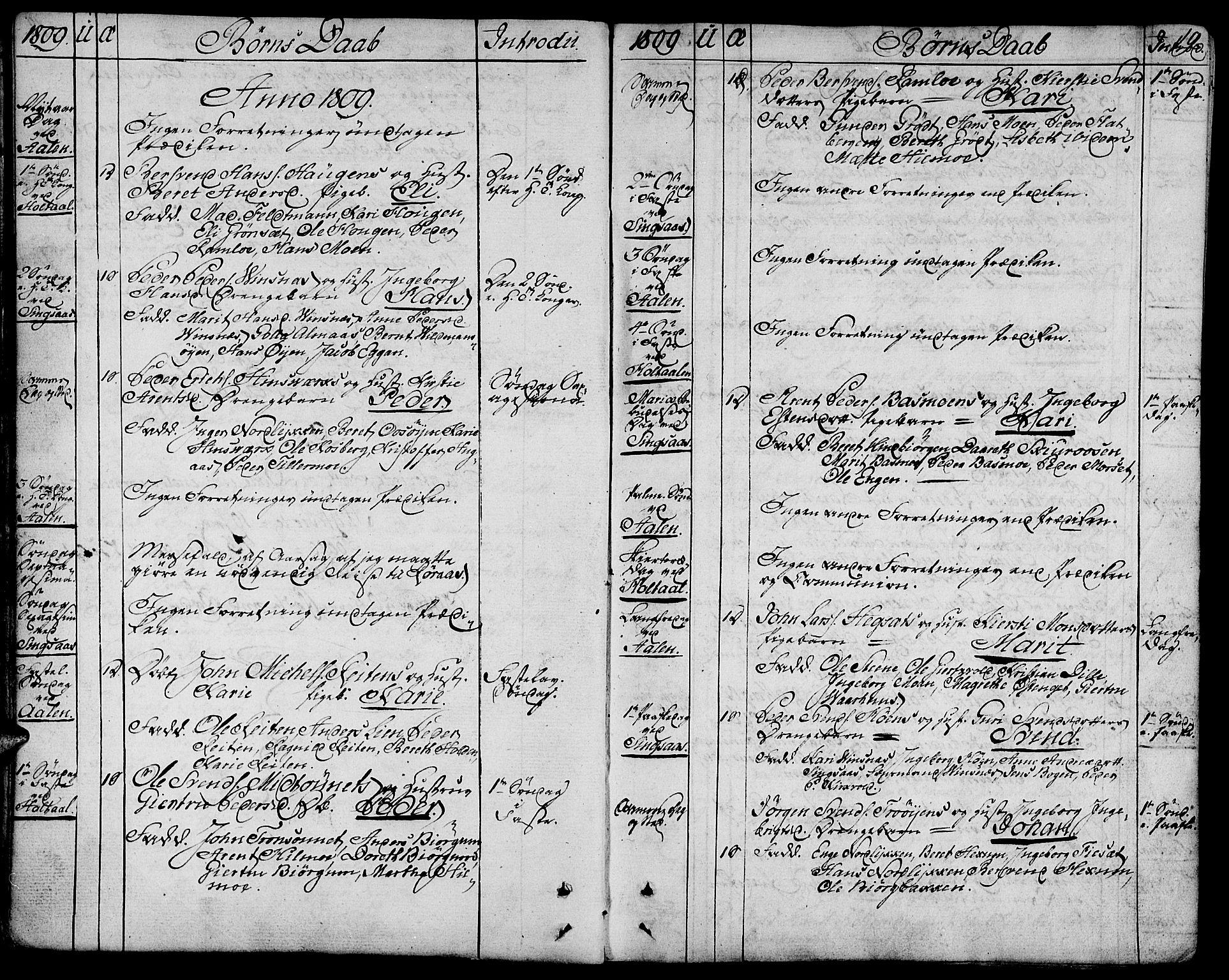 SAT, Ministerialprotokoller, klokkerbøker og fødselsregistre - Sør-Trøndelag, 685/L0953: Ministerialbok nr. 685A02, 1805-1816, s. 19