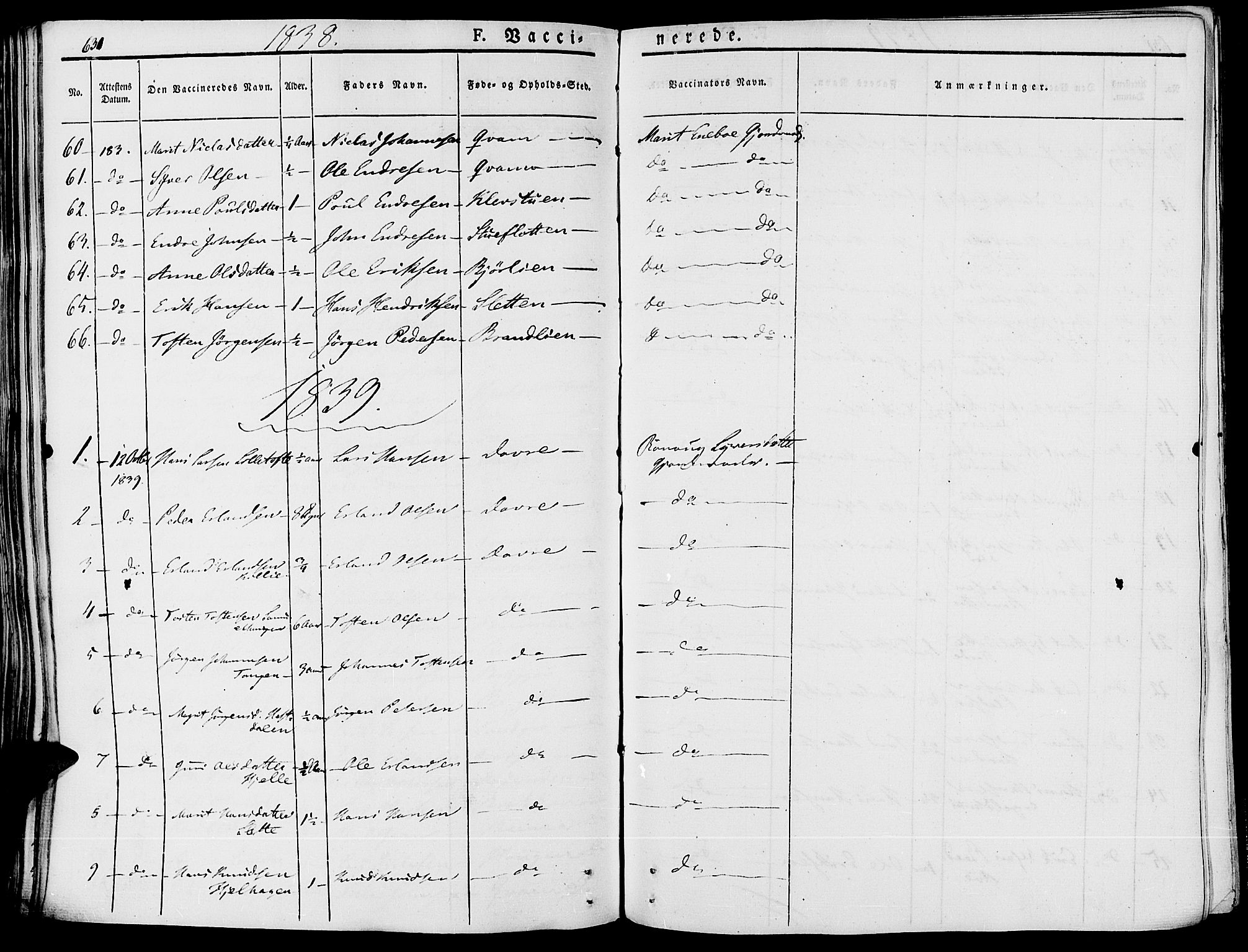 SAH, Lesja prestekontor, Ministerialbok nr. 5, 1830-1842, s. 631