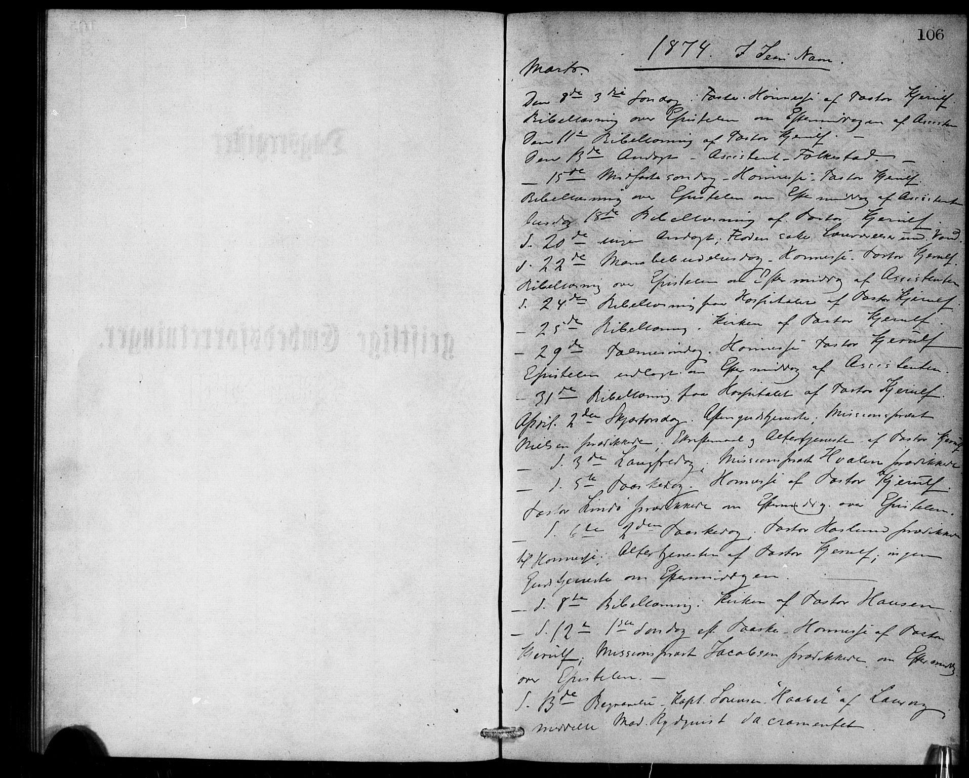 SAB, Den Norske Sjømannsmisjon i utlandet*, Ministerialbok nr. A 1, 1868-1887, s. 106