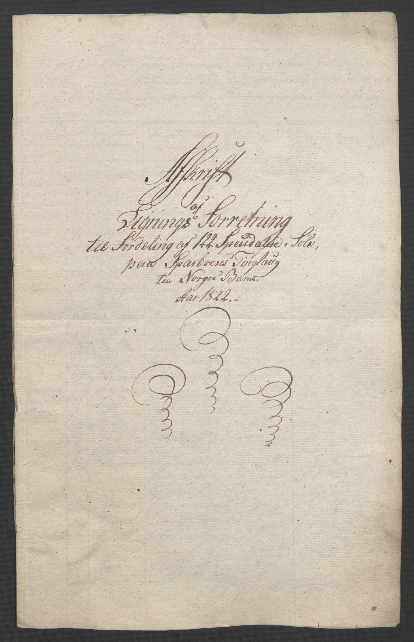 NOBA, Norges Bank/Sølvskatten 1816*, 1816-1822, s. 65