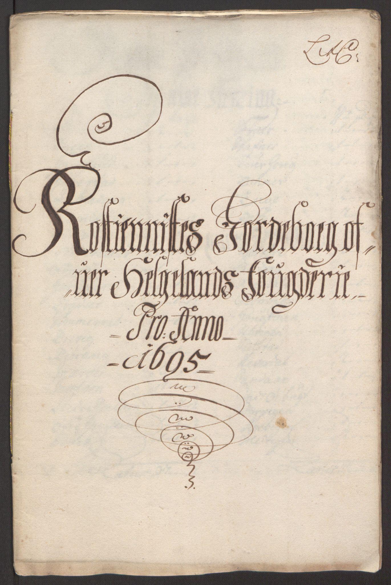 RA, Rentekammeret inntil 1814, Reviderte regnskaper, Fogderegnskap, R65/L4505: Fogderegnskap Helgeland, 1693-1696, s. 349
