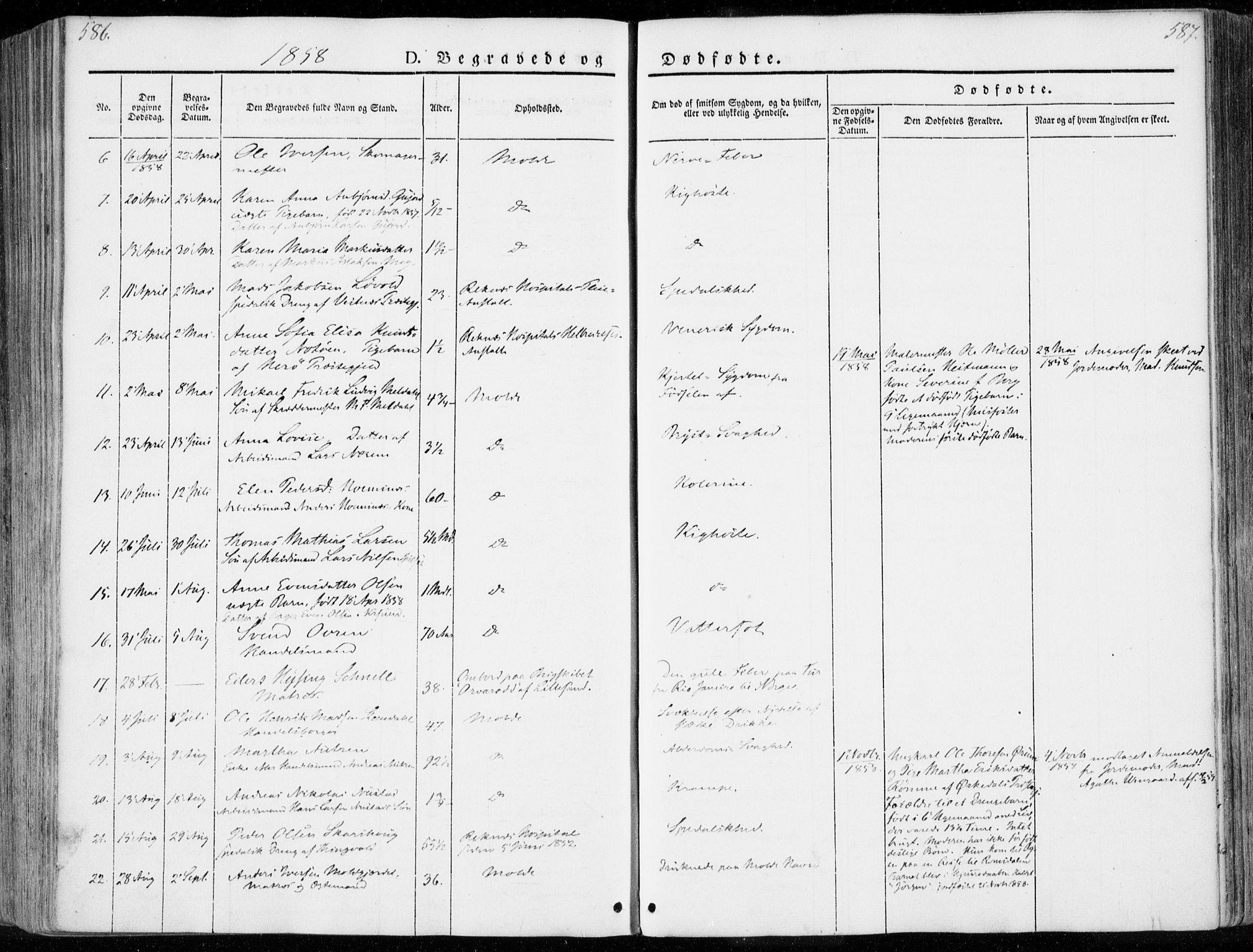 SAT, Ministerialprotokoller, klokkerbøker og fødselsregistre - Møre og Romsdal, 558/L0689: Ministerialbok nr. 558A03, 1843-1872, s. 586-587