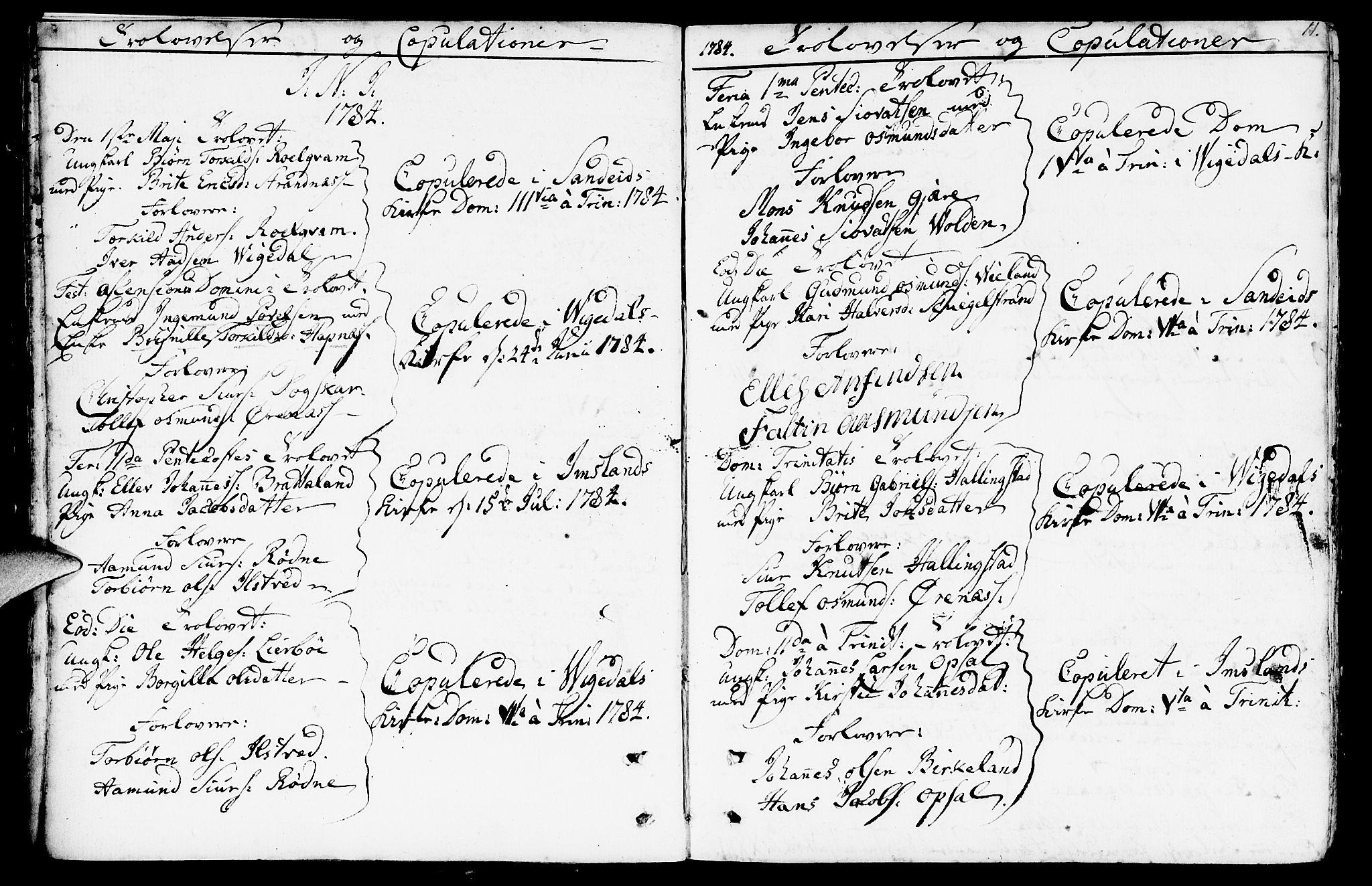 SAST, Vikedal sokneprestkontor, IV: Ministerialbok nr. A 2, 1779-1817, s. 11