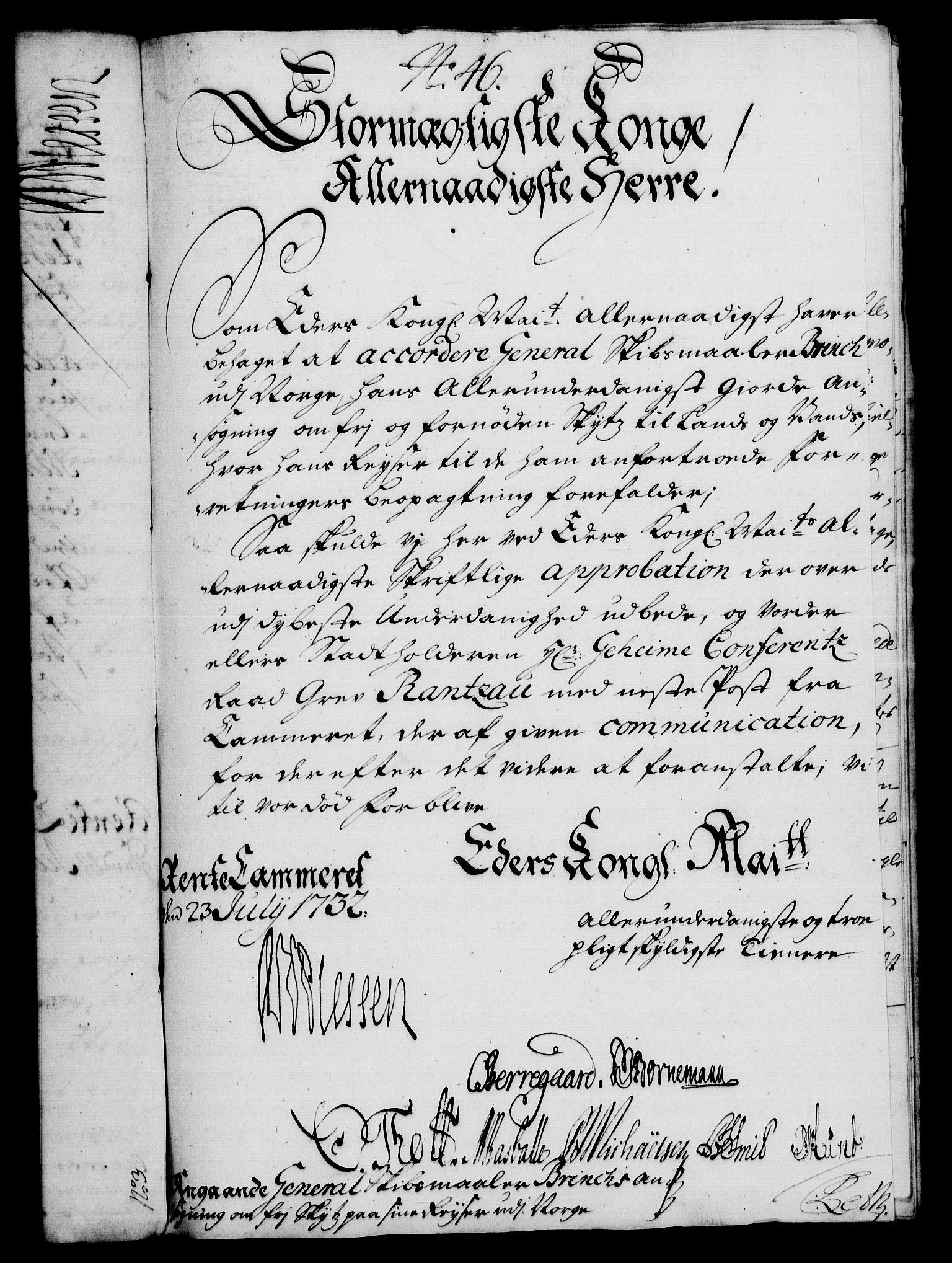 RA, Rentekammeret, Kammerkanselliet, G/Gf/Gfa/L0015: Norsk relasjons- og resolusjonsprotokoll (merket RK 52.15), 1732, s. 297