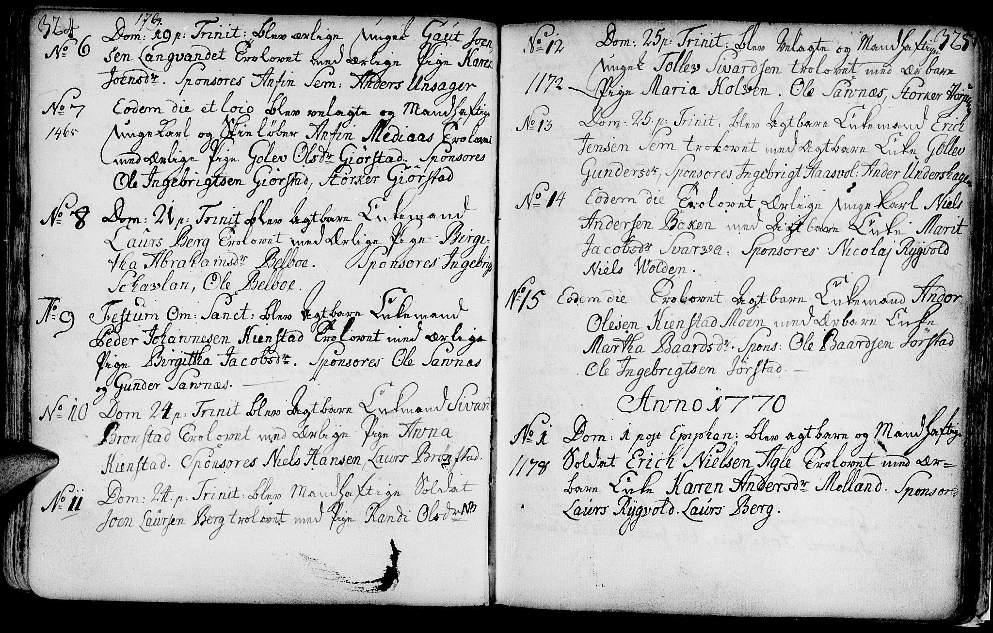 SAT, Ministerialprotokoller, klokkerbøker og fødselsregistre - Nord-Trøndelag, 749/L0467: Ministerialbok nr. 749A01, 1733-1787, s. 324-325