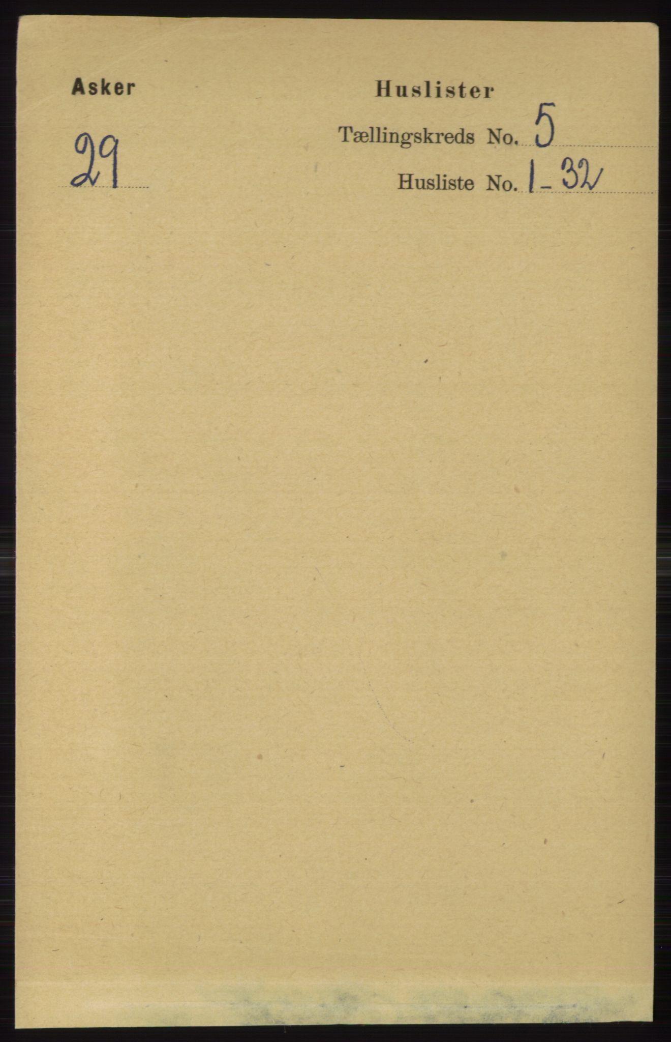 RA, Folketelling 1891 for 0220 Asker herred, 1891, s. 3631