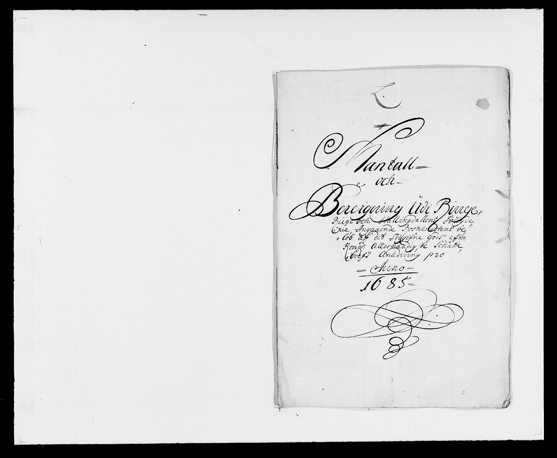 RA, Rentekammeret inntil 1814, Reviderte regnskaper, Fogderegnskap, R21/L1446: Fogderegnskap Ringerike og Hallingdal, 1683-1686, s. 388