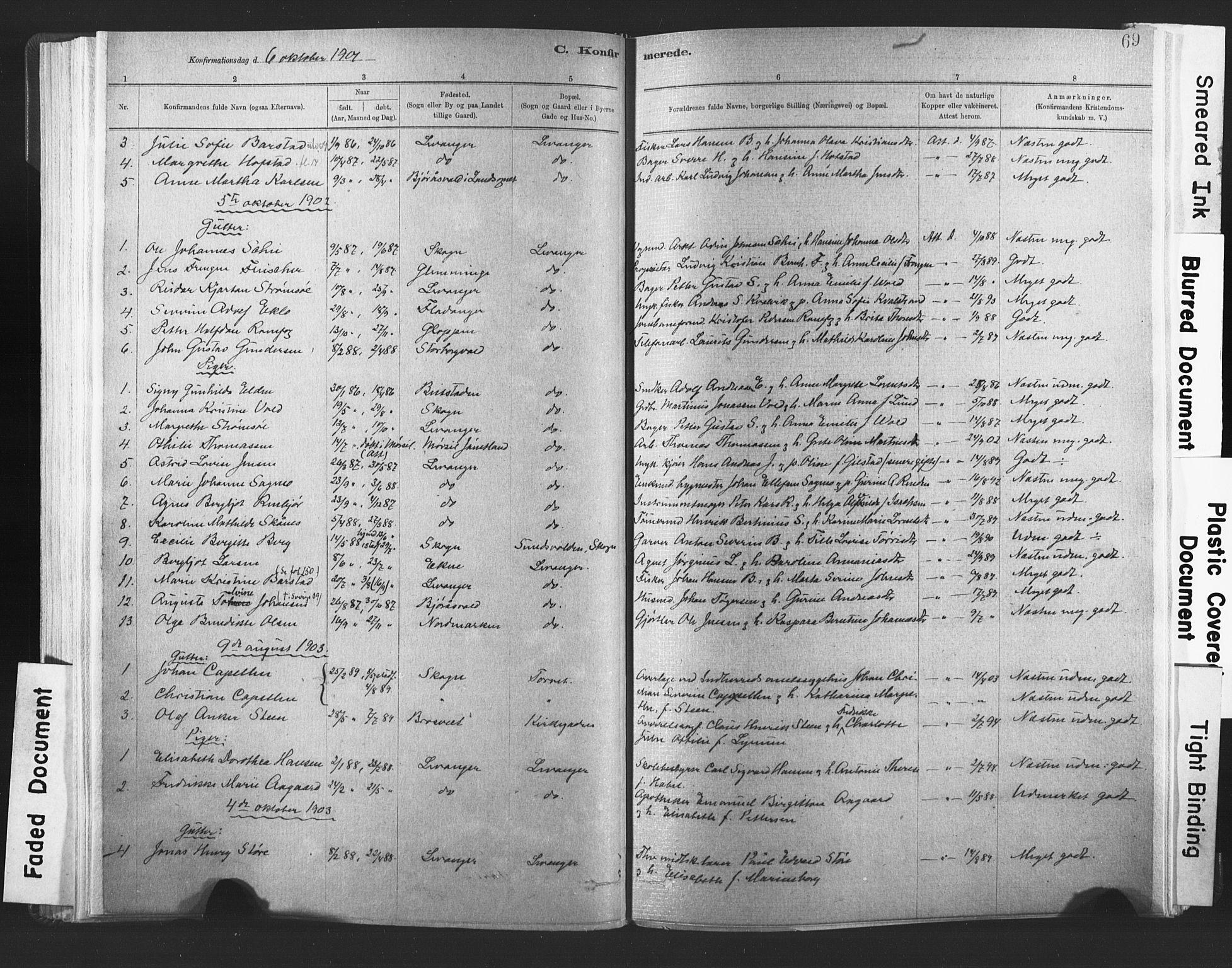 SAT, Ministerialprotokoller, klokkerbøker og fødselsregistre - Nord-Trøndelag, 720/L0189: Ministerialbok nr. 720A05, 1880-1911, s. 69