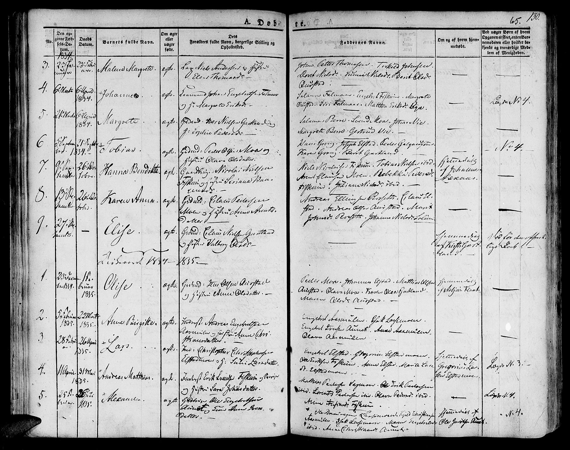 SAT, Ministerialprotokoller, klokkerbøker og fødselsregistre - Nord-Trøndelag, 758/L0510: Ministerialbok nr. 758A01 /3, 1821-1841, s. 65