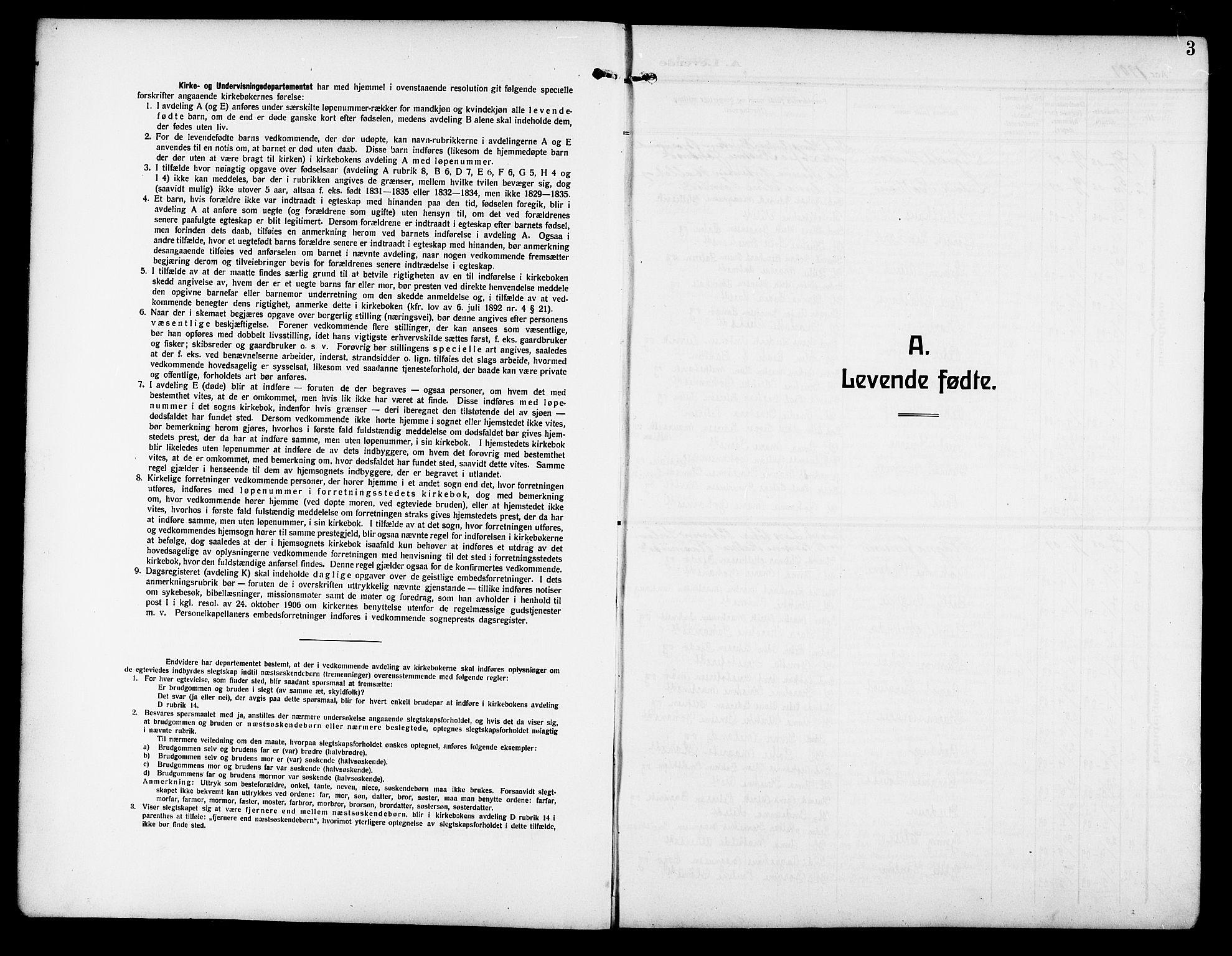 SAT, Ministerialprotokoller, klokkerbøker og fødselsregistre - Sør-Trøndelag, 640/L0588: Klokkerbok nr. 640C05, 1909-1922, s. 3