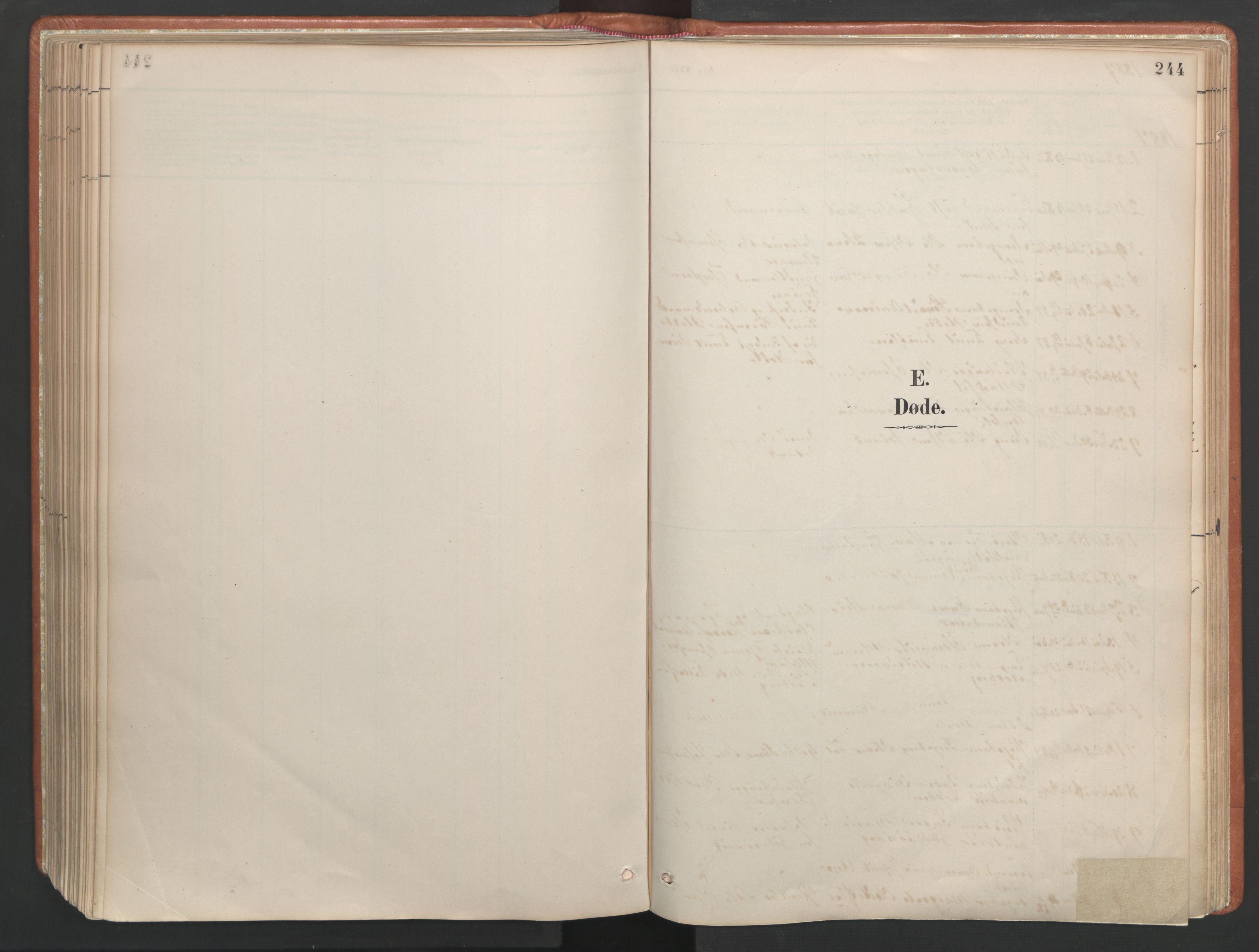 SAT, Ministerialprotokoller, klokkerbøker og fødselsregistre - Møre og Romsdal, 557/L0682: Ministerialbok nr. 557A04, 1887-1970, s. 244