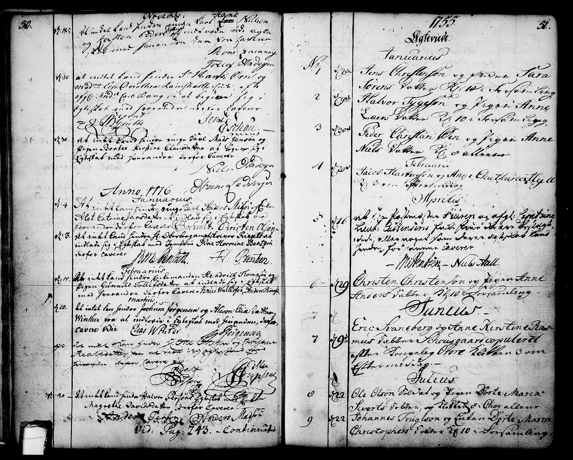 SAKO, Skien kirkebøker, F/Fa/L0003: Ministerialbok nr. 3, 1755-1791, s. 50-51