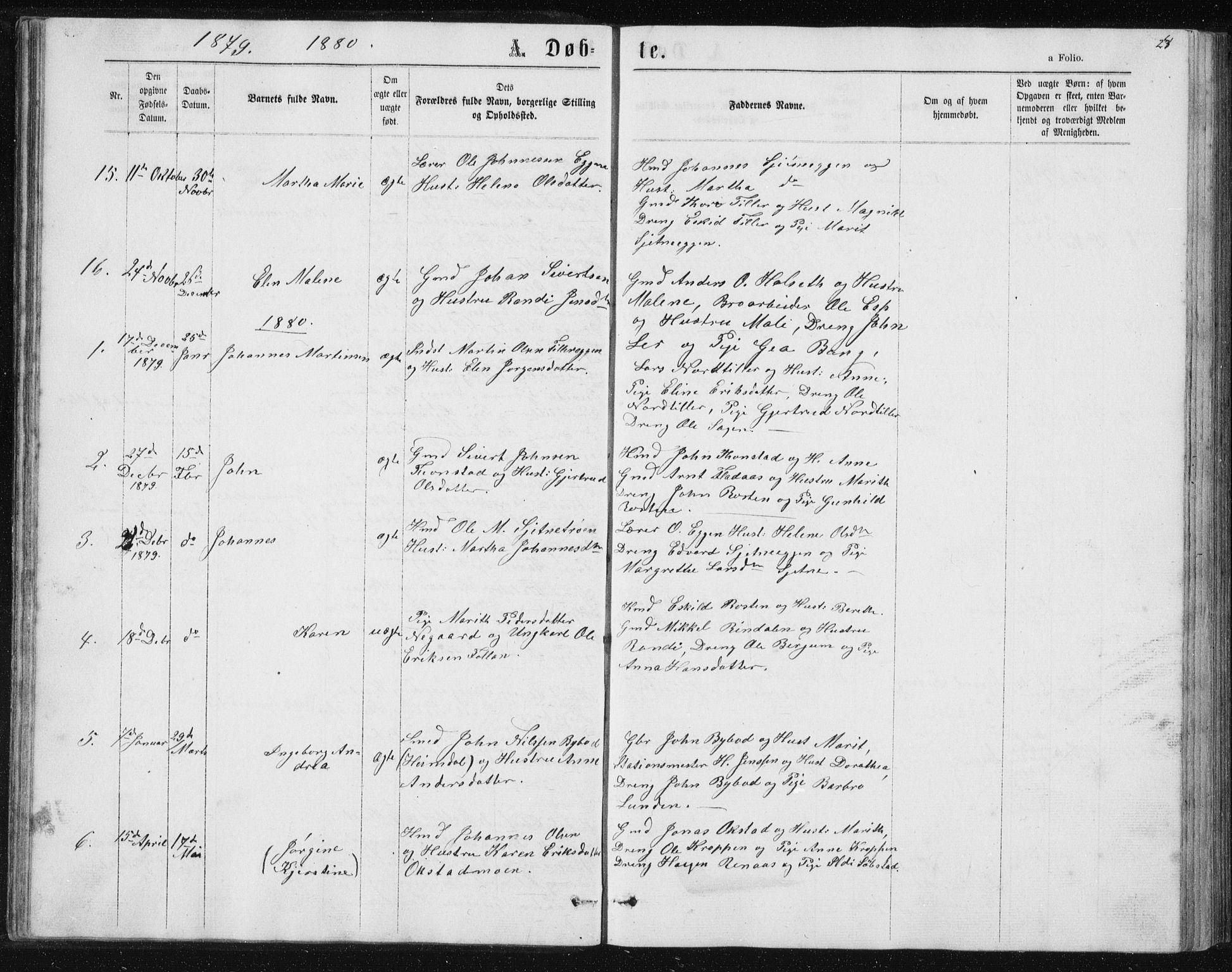 SAT, Ministerialprotokoller, klokkerbøker og fødselsregistre - Sør-Trøndelag, 621/L0459: Klokkerbok nr. 621C02, 1866-1895, s. 24