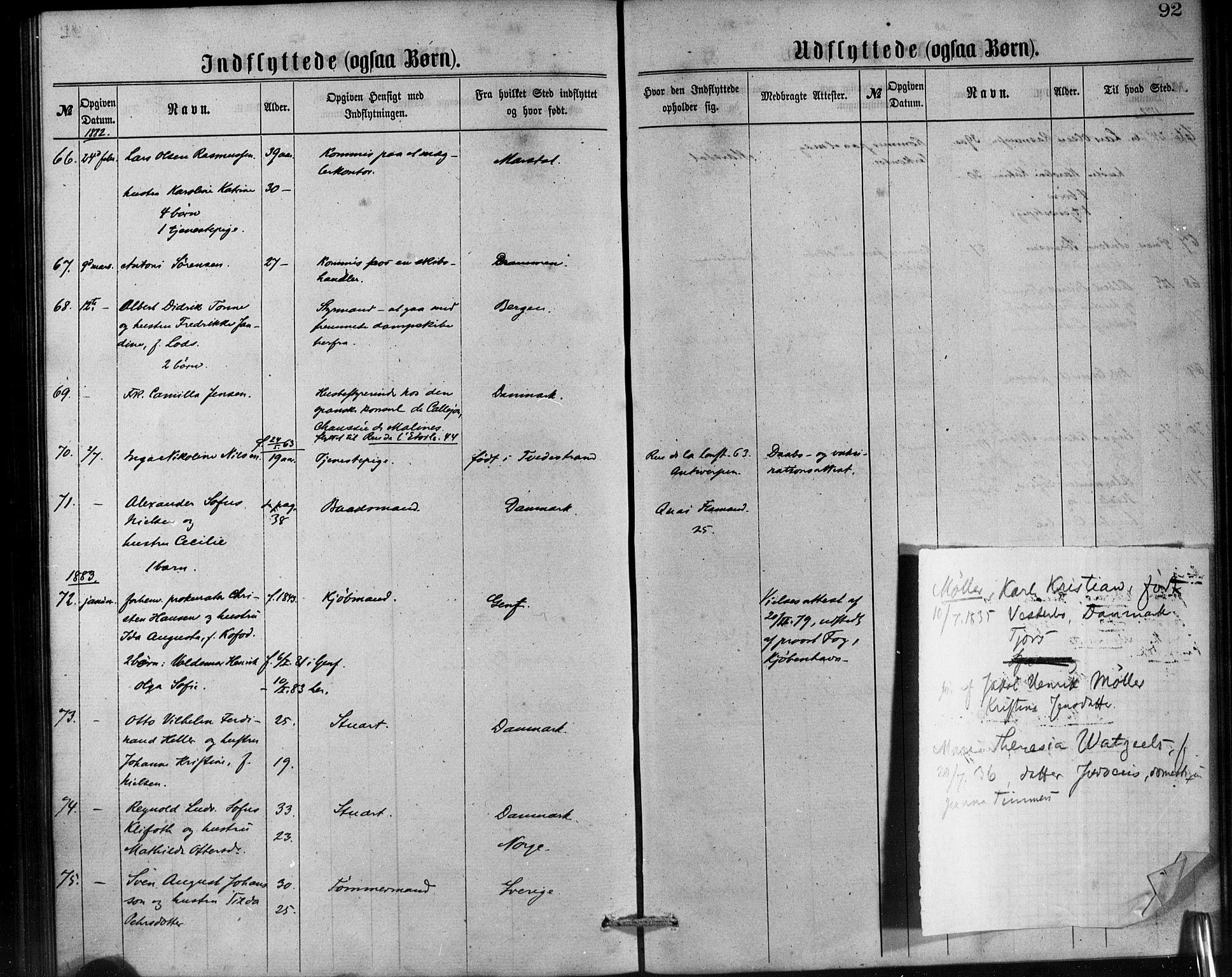 SAB, Den Norske Sjømannsmisjon i utlandet*, Ministerialbok nr. A 1, 1865-1887, s. 92