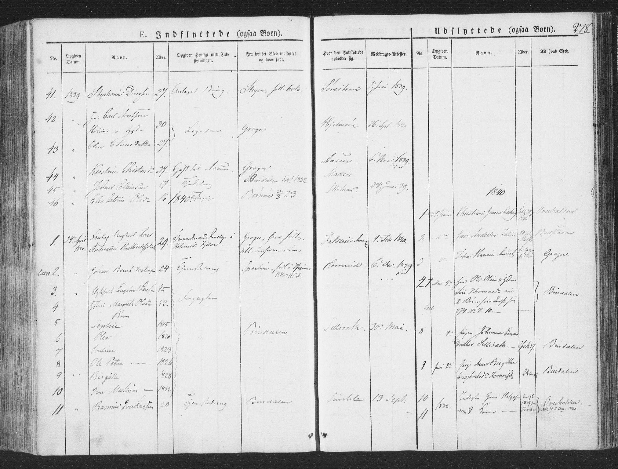 SAT, Ministerialprotokoller, klokkerbøker og fødselsregistre - Nord-Trøndelag, 780/L0639: Ministerialbok nr. 780A04, 1830-1844, s. 278