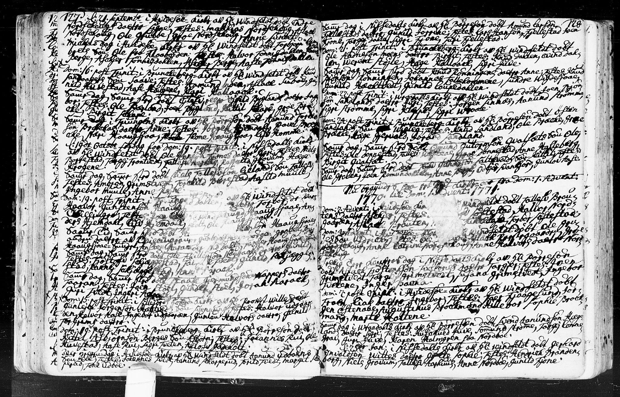 SAKO, Kviteseid kirkebøker, F/Fa/L0001: Ministerialbok nr. I 1, 1754-1773, s. 127-128
