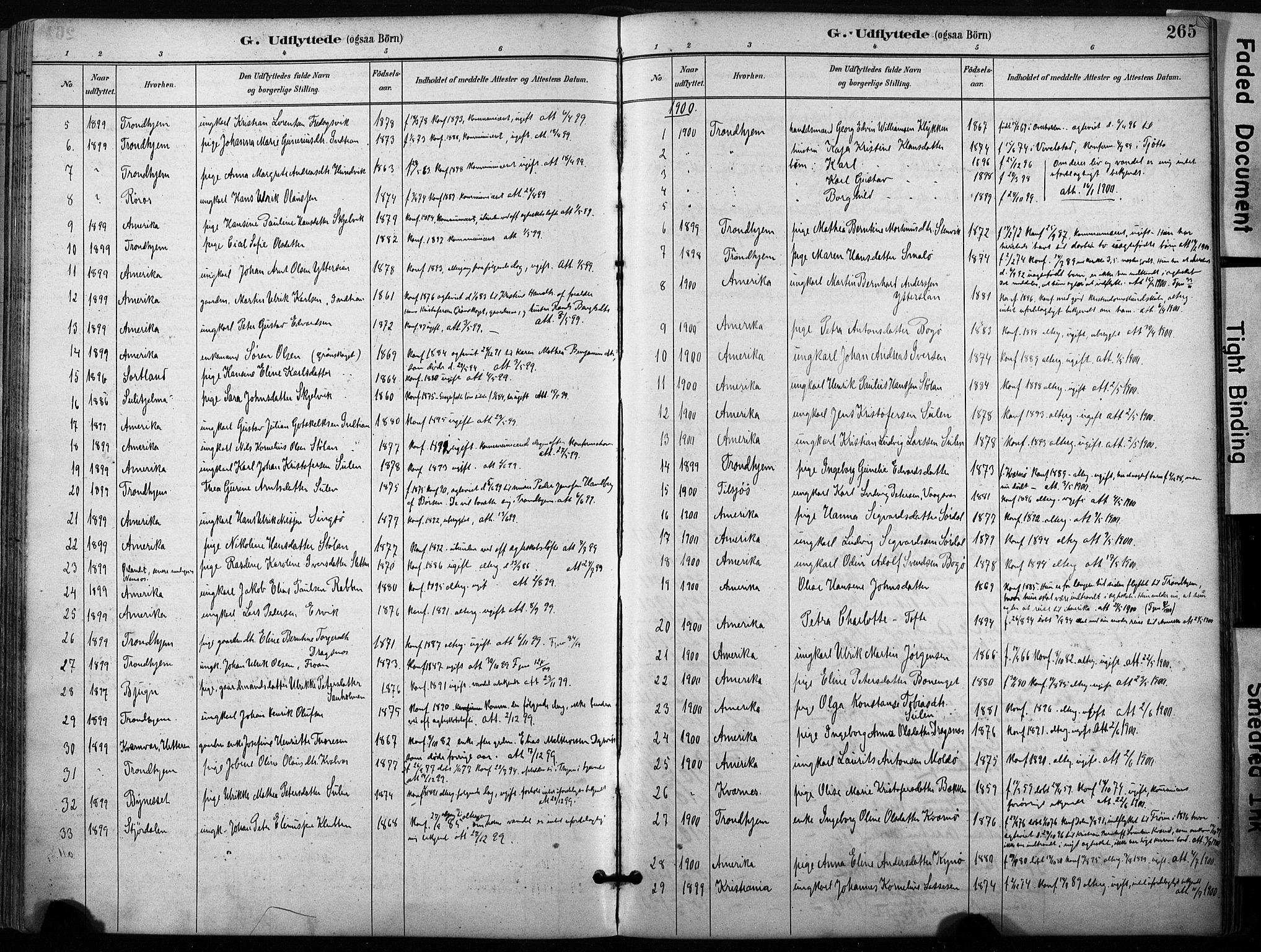 SAT, Ministerialprotokoller, klokkerbøker og fødselsregistre - Sør-Trøndelag, 640/L0579: Ministerialbok nr. 640A04, 1889-1902, s. 265