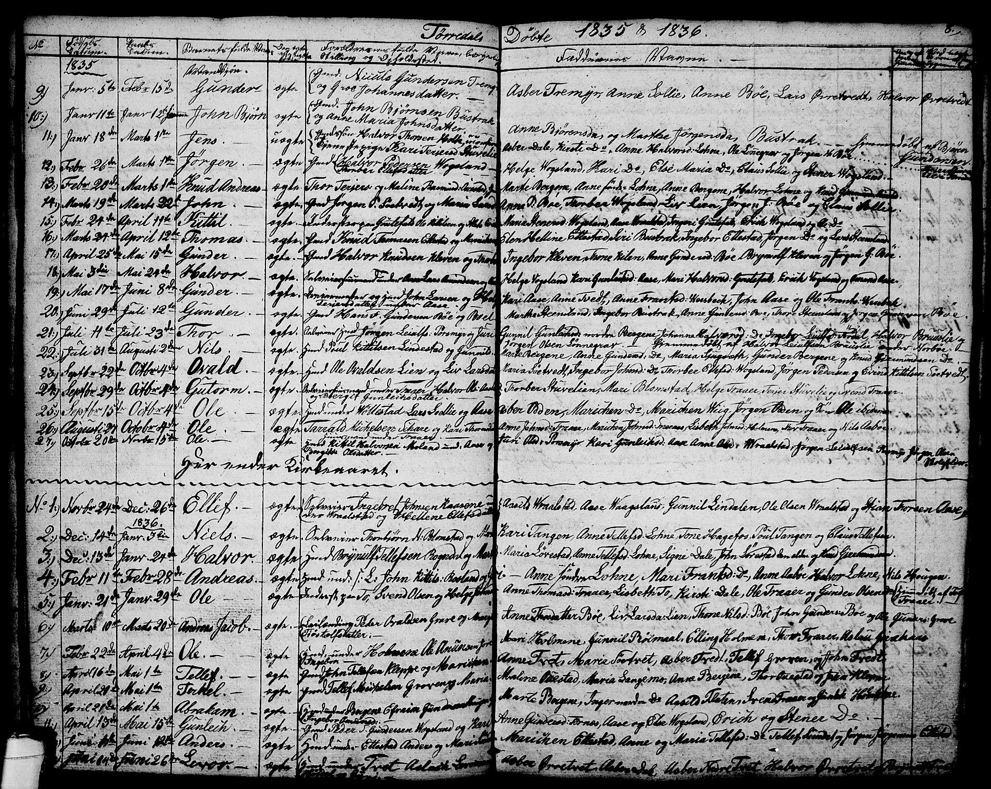 SAKO, Drangedal kirkebøker, G/Ga/L0001: Klokkerbok nr. I 1 /2, 1814-1856, s. 8