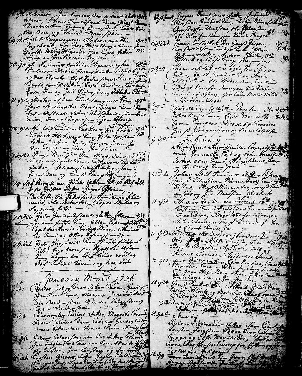SAKO, Skien kirkebøker, F/Fa/L0002: Ministerialbok nr. 2, 1716-1757, s. 117