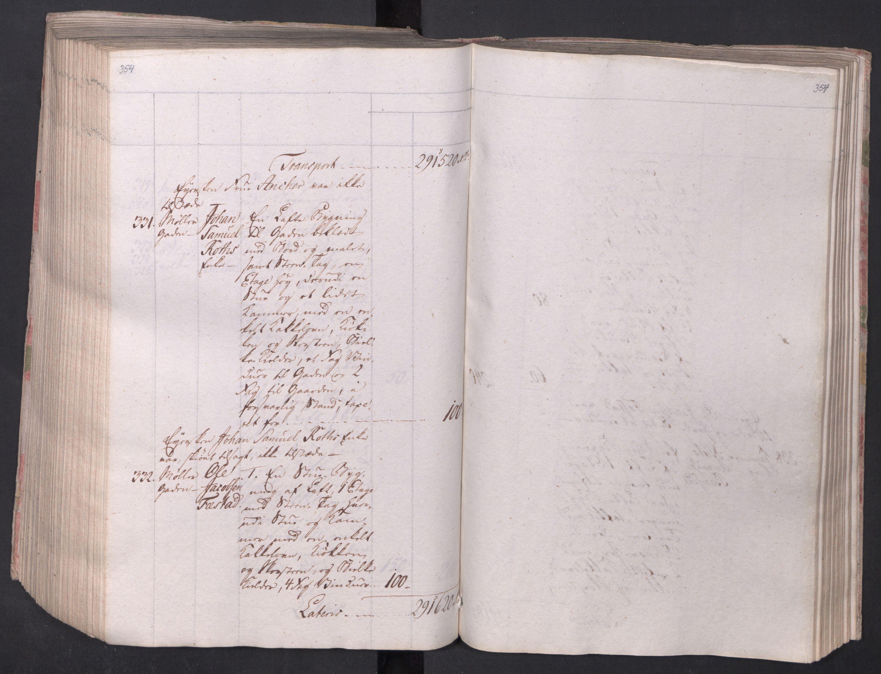 SAO, Kristiania stiftamt, I/Ia/L0015: Branntakster, 1797, s. 354
