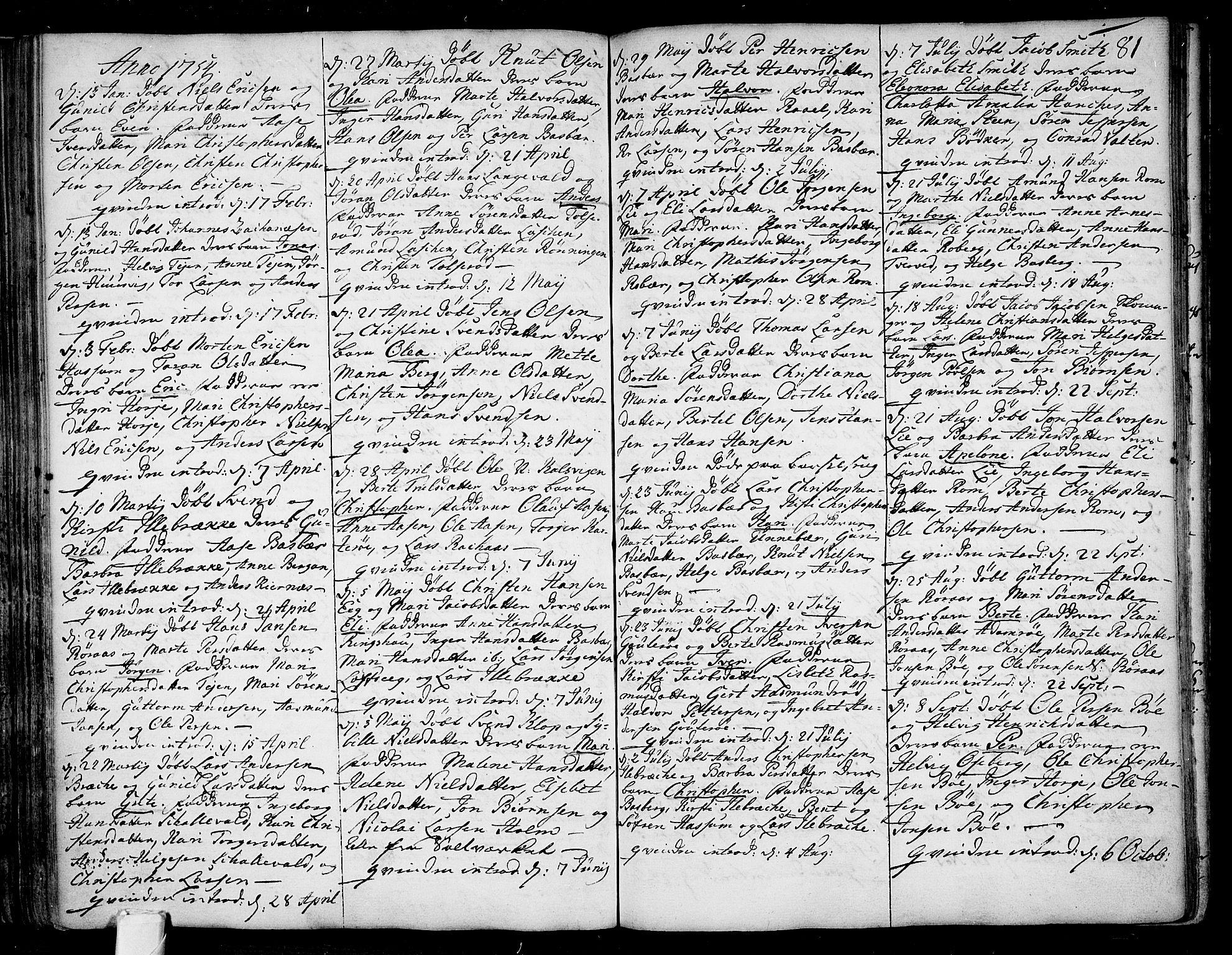 SAKO, Sem kirkebøker, F/Fb/L0001: Ministerialbok nr. II 1, 1702-1764, s. 81