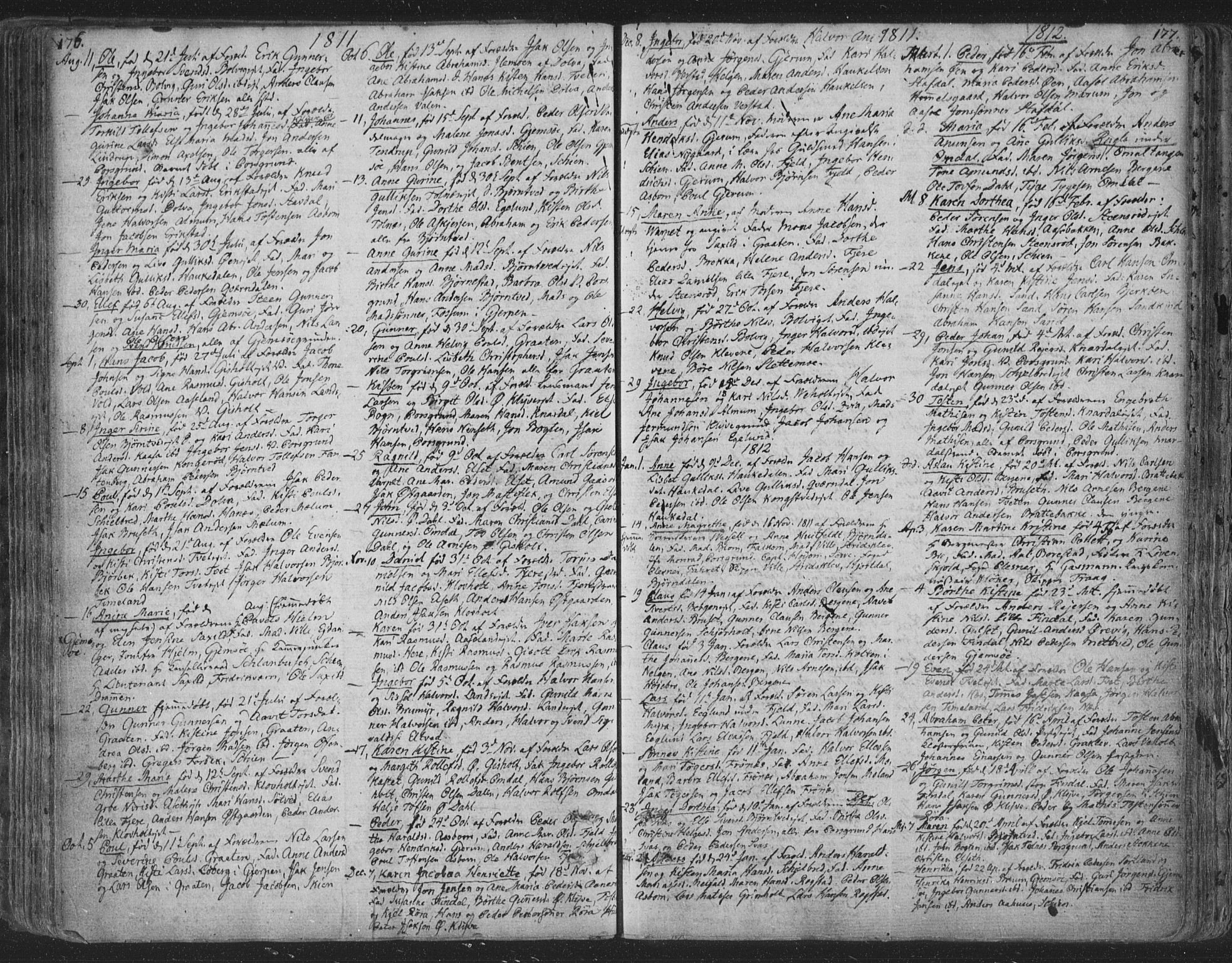SAKO, Solum kirkebøker, F/Fa/L0003: Ministerialbok nr. I 3, 1761-1814, s. 176-177
