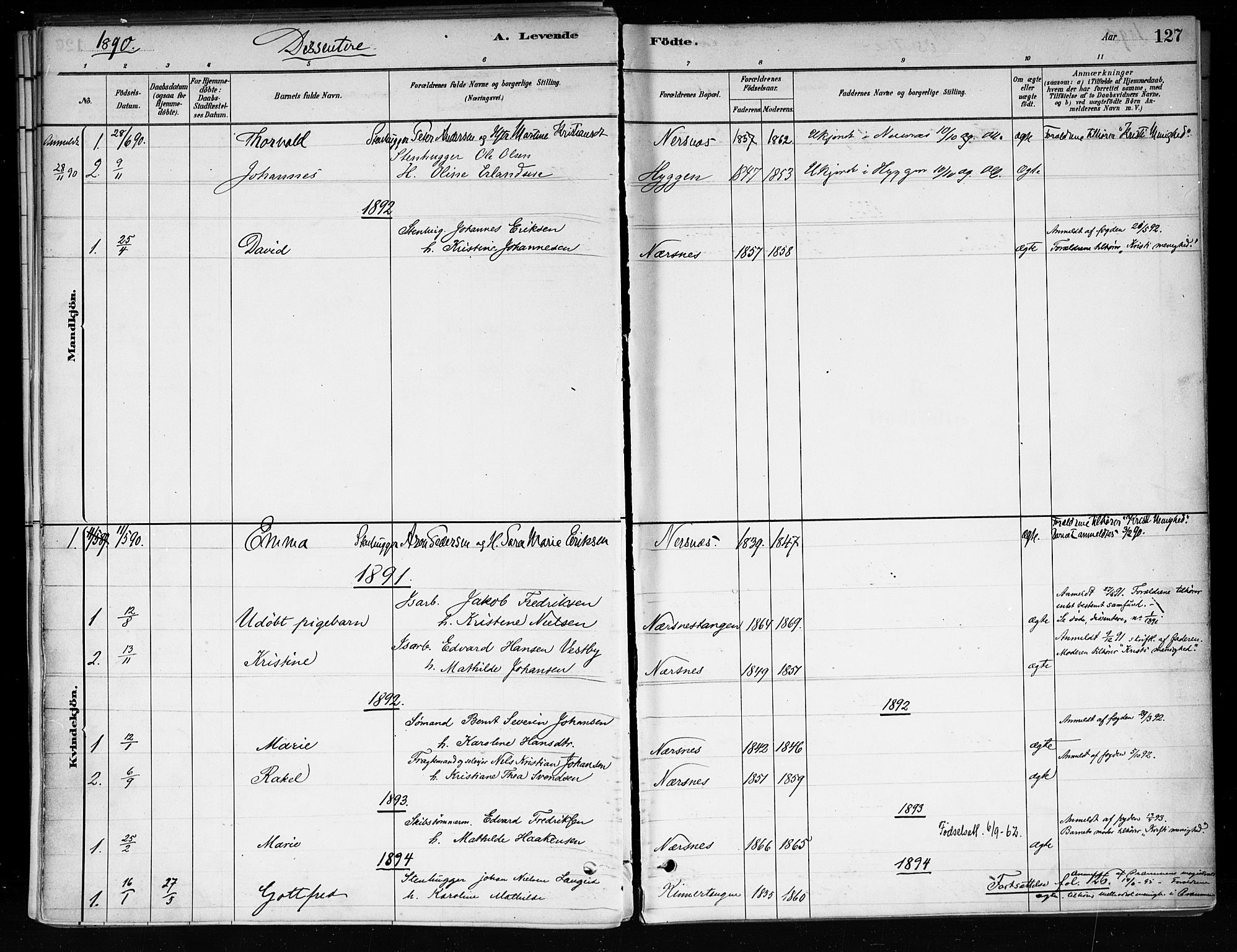 SAKO, Røyken kirkebøker, F/Fa/L0008: Ministerialbok nr. 8, 1880-1897, s. 127