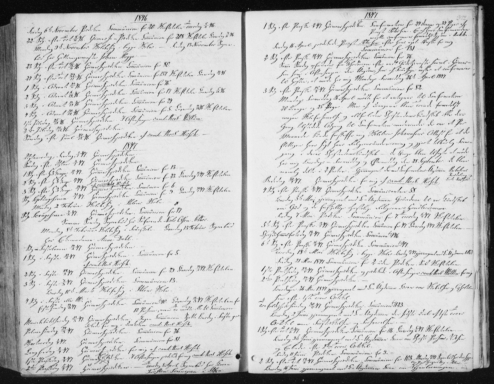 SAT, Ministerialprotokoller, klokkerbøker og fødselsregistre - Sør-Trøndelag, 602/L0110: Ministerialbok nr. 602A08, 1840-1854, s. 372
